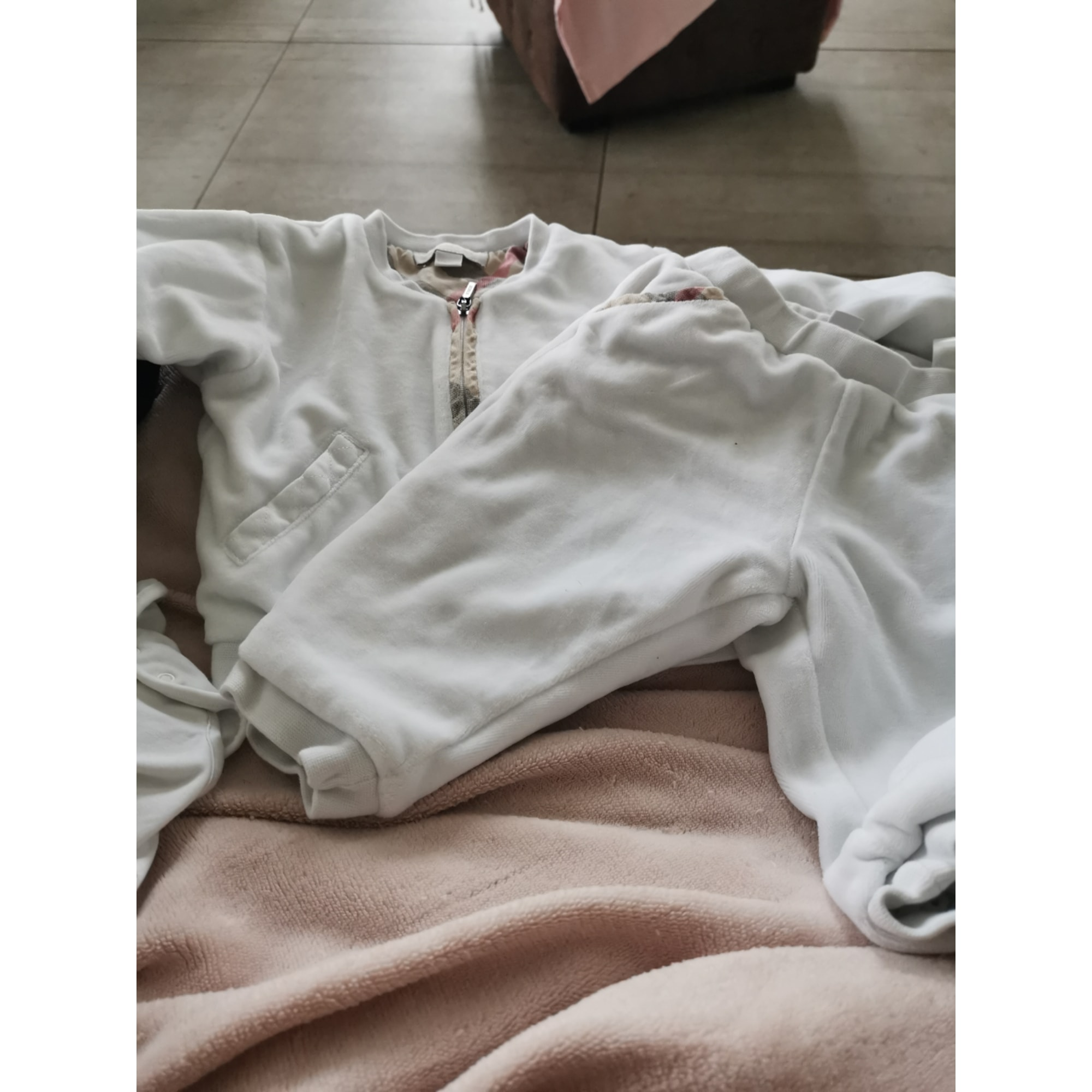 Ensemble & Combinaison pantalon BURBERRY Blanc, blanc cassé, écru