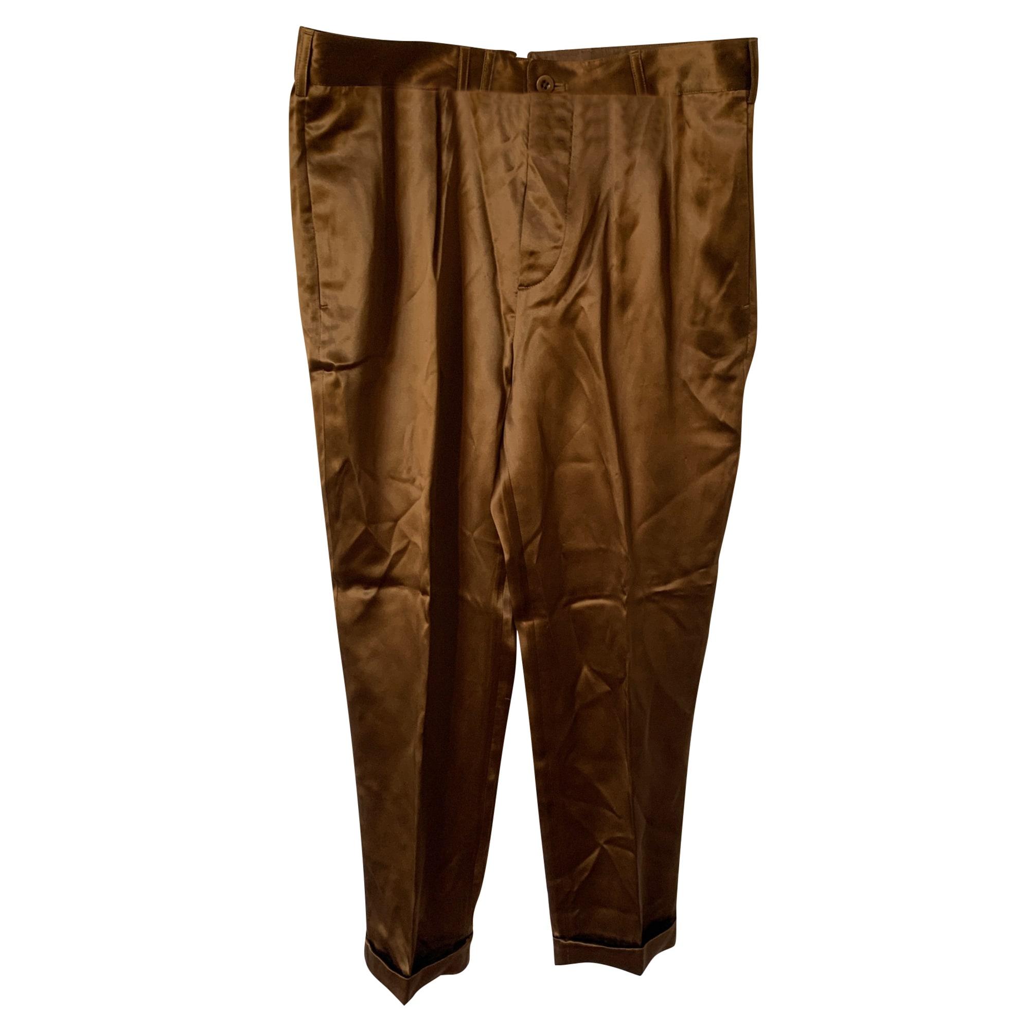 Pantalon évasé RALPH LAUREN Doré, bronze, cuivre