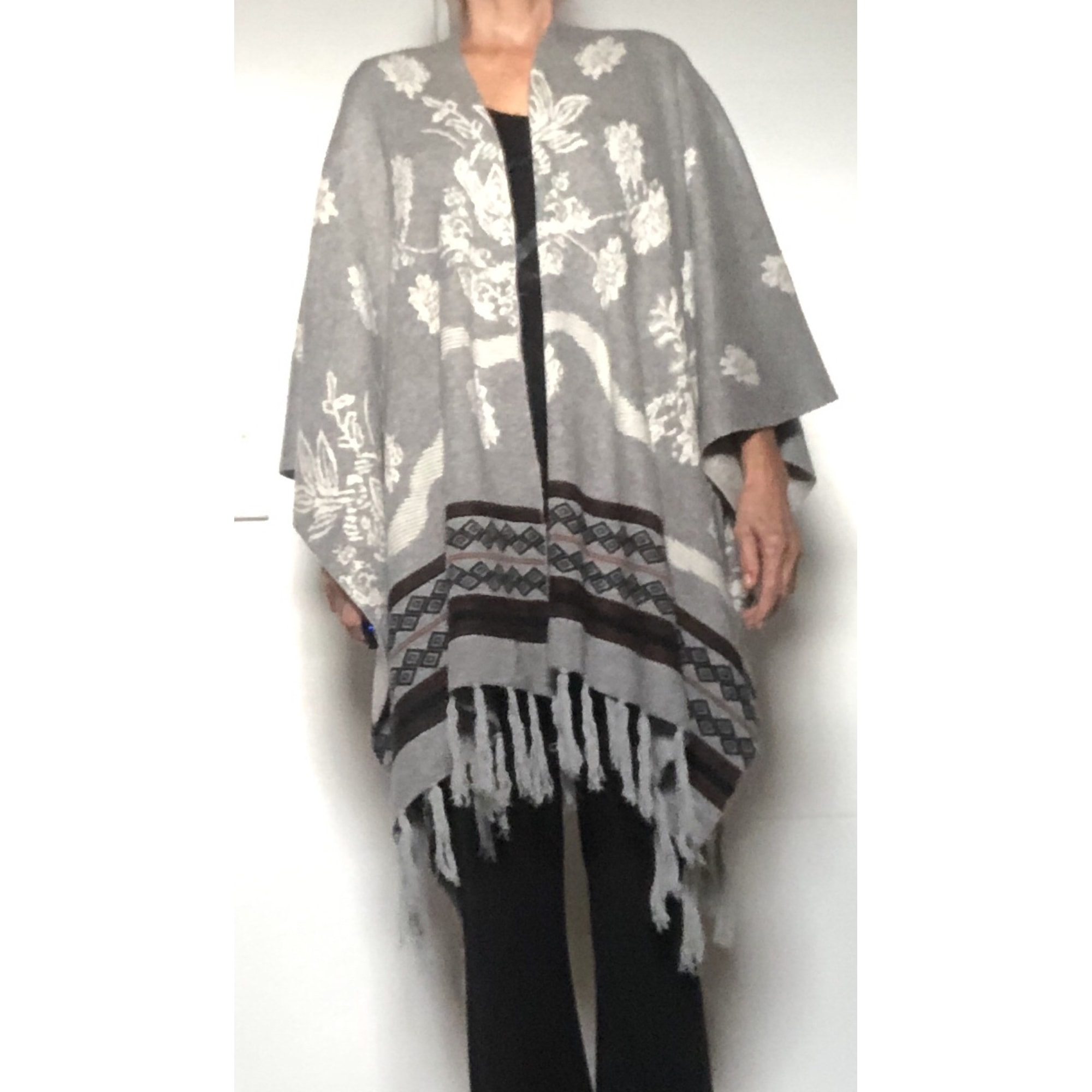 Poncho ENTRACTE Gris, anthracite
