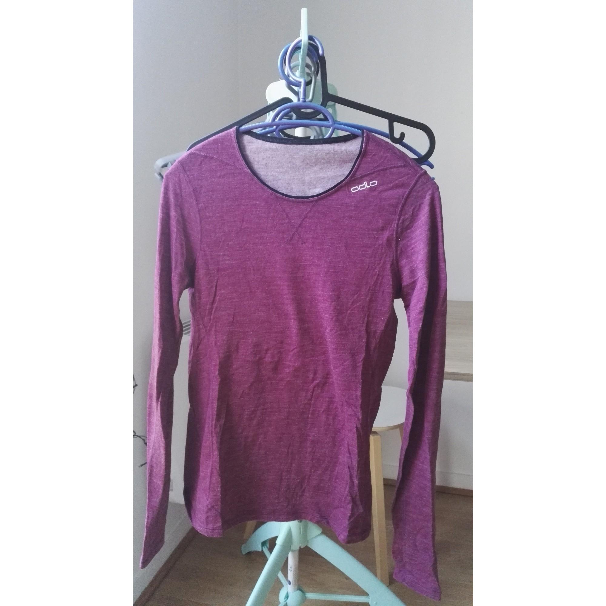 Top, tee-shirt ODLO Violet, mauve, lavande