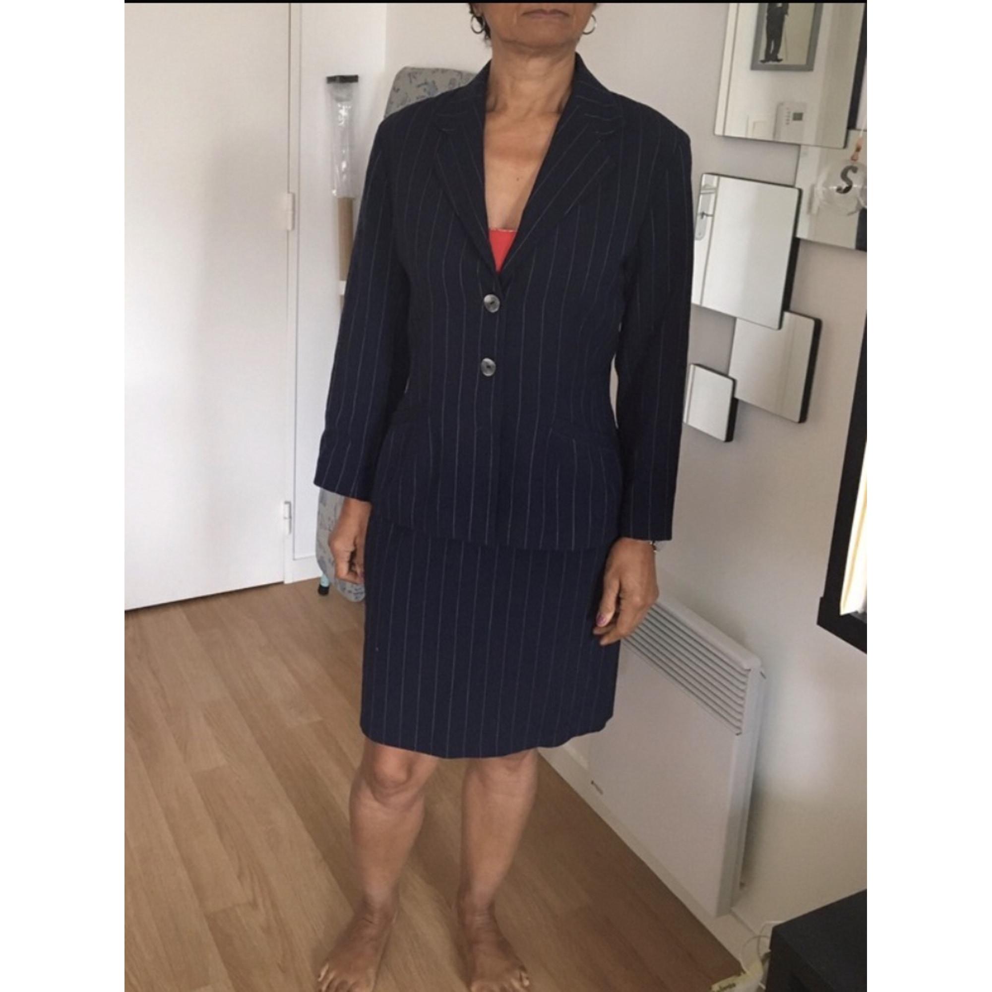 Tailleur jupe CLAUDIE PIERLOT Bleu, bleu marine, bleu turquoise