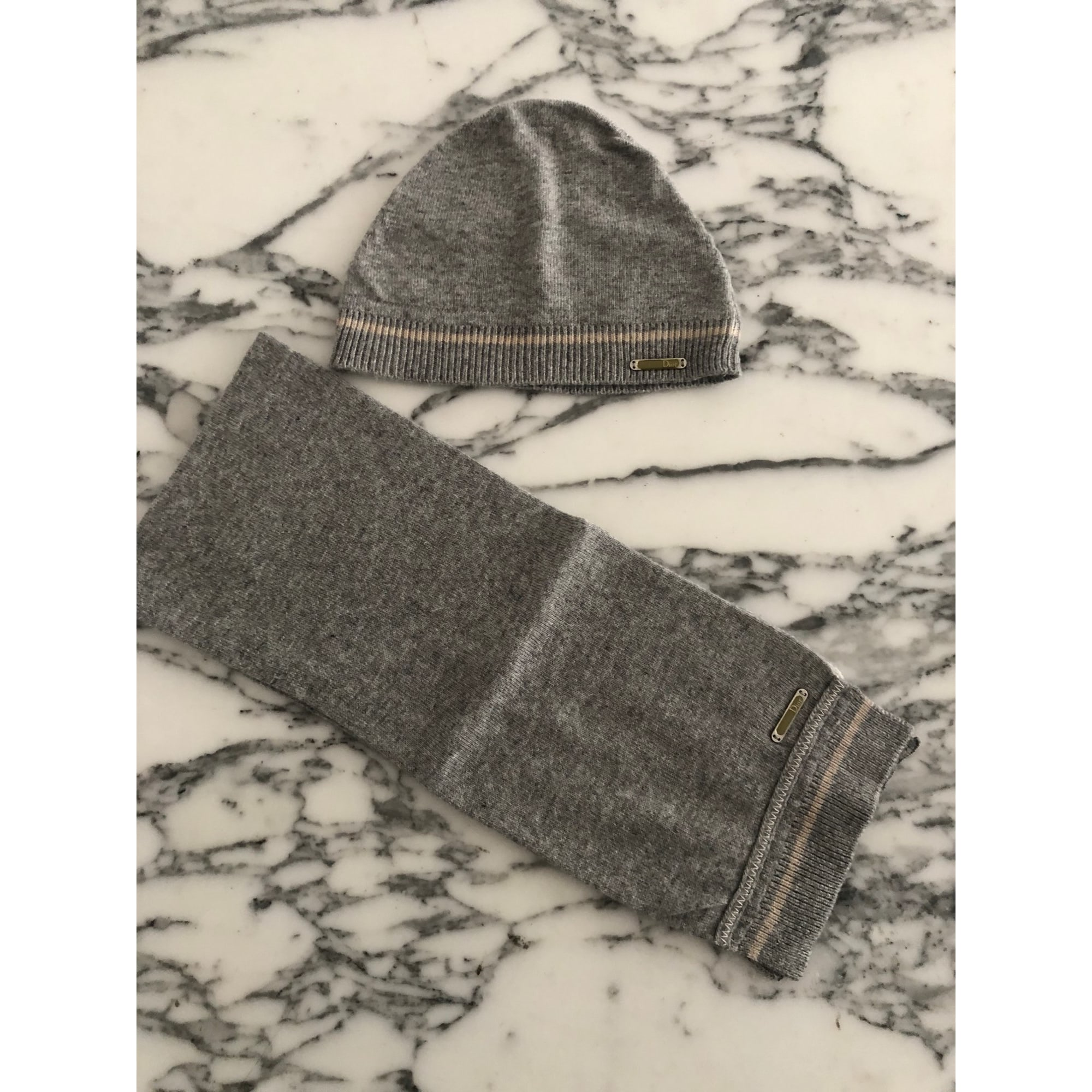 Beanie BABY DIOR Gray, charcoal