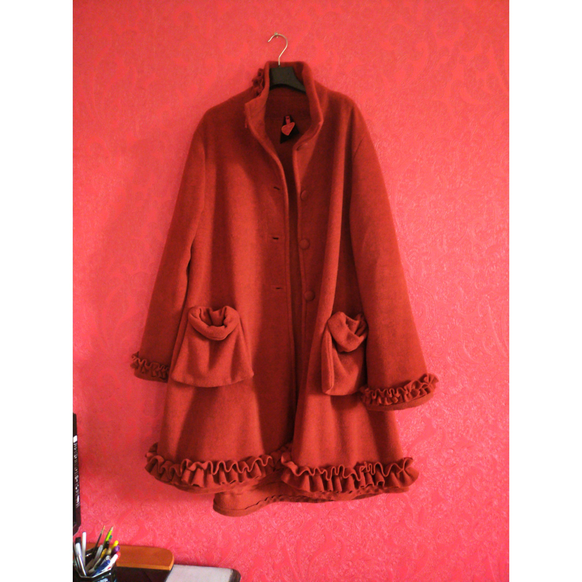 Manteau INCONNUE Rouge, bordeaux