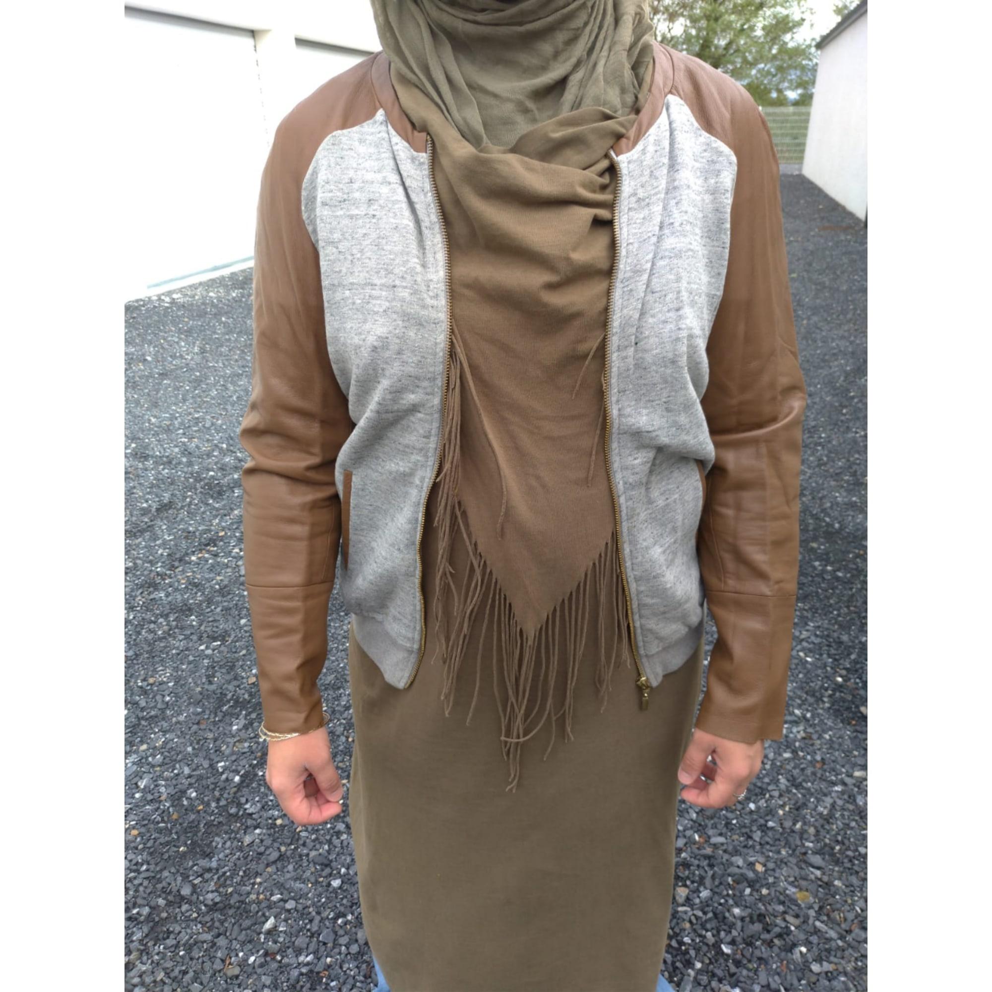 Blouson MAJE Beige, camel