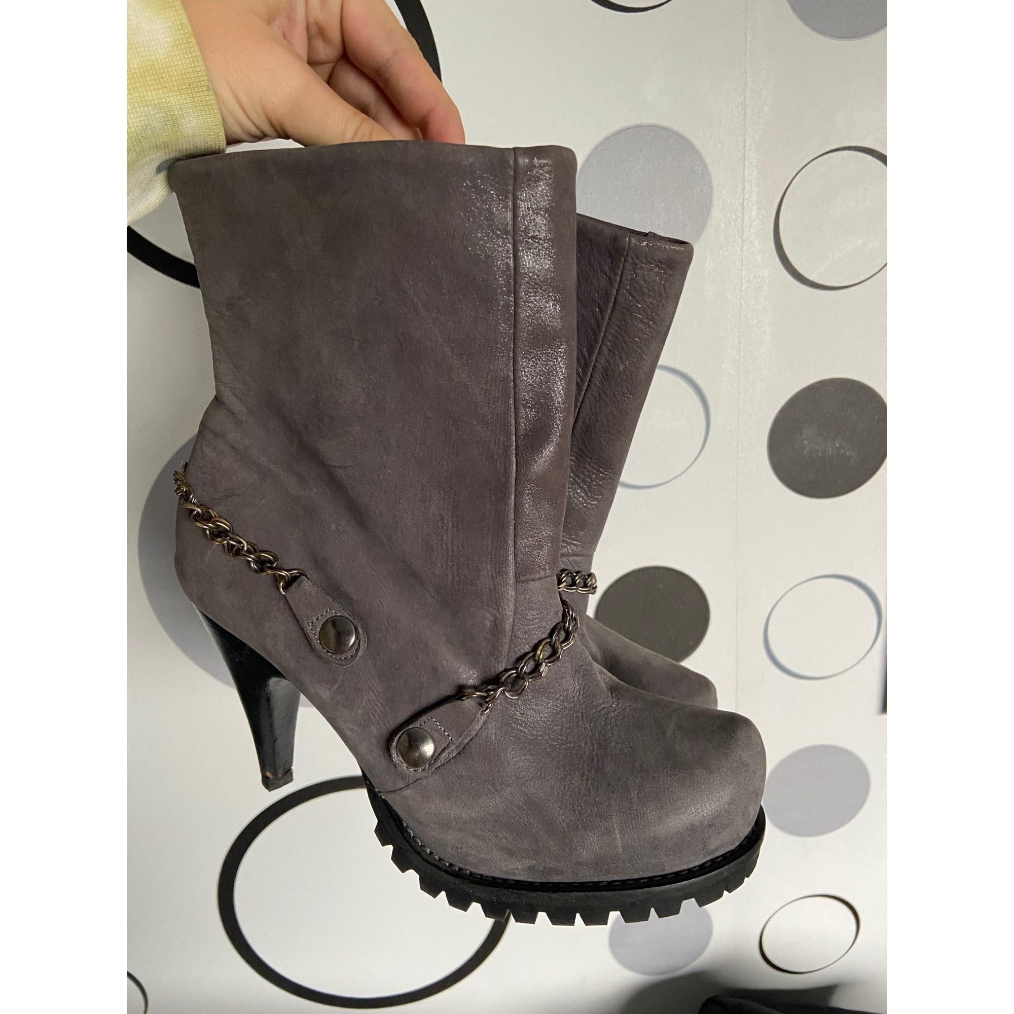 Bottines & low boots à talons COP-COPINE Gris, anthracite
