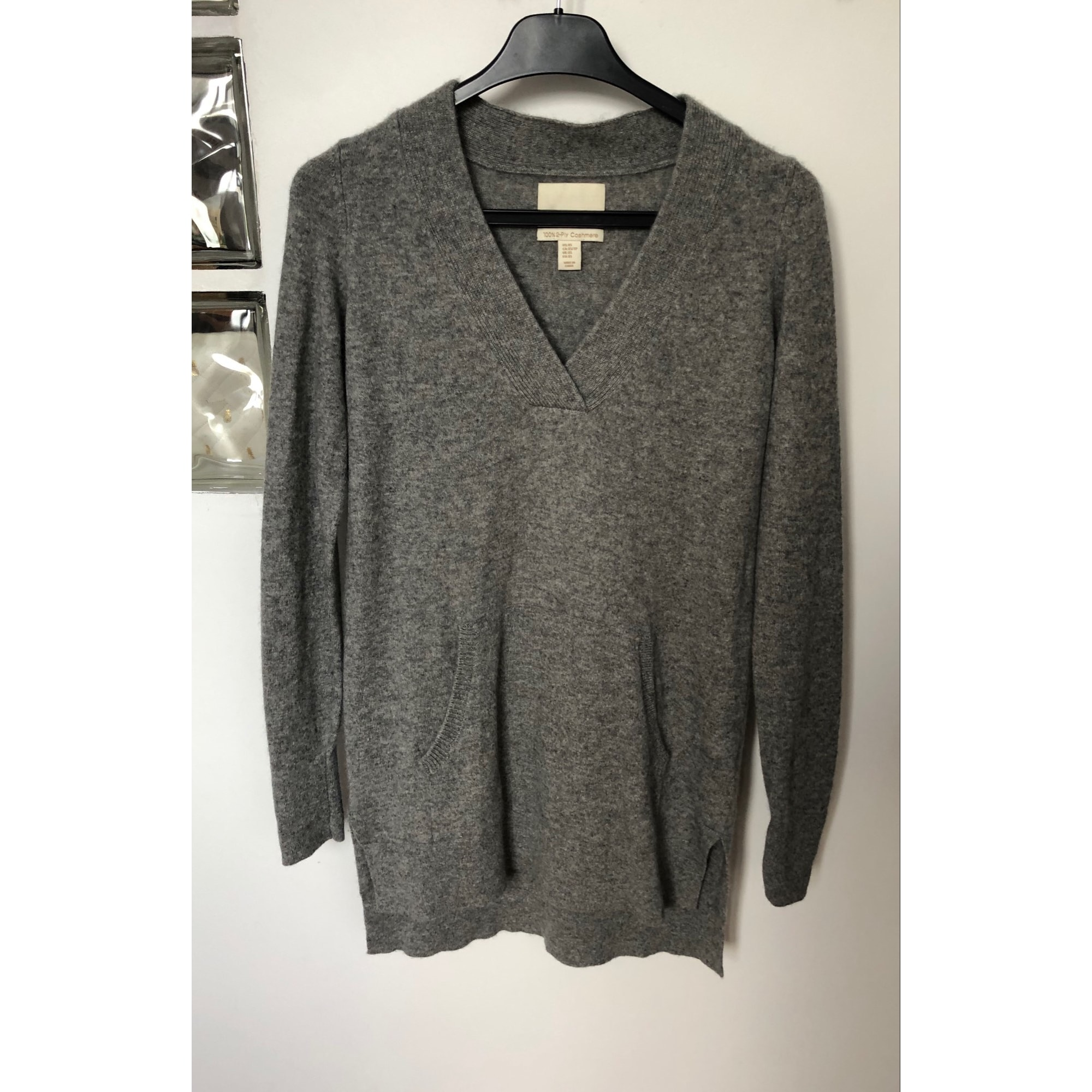 Pull tunique CYNTHIA ROWLEY Gris, anthracite