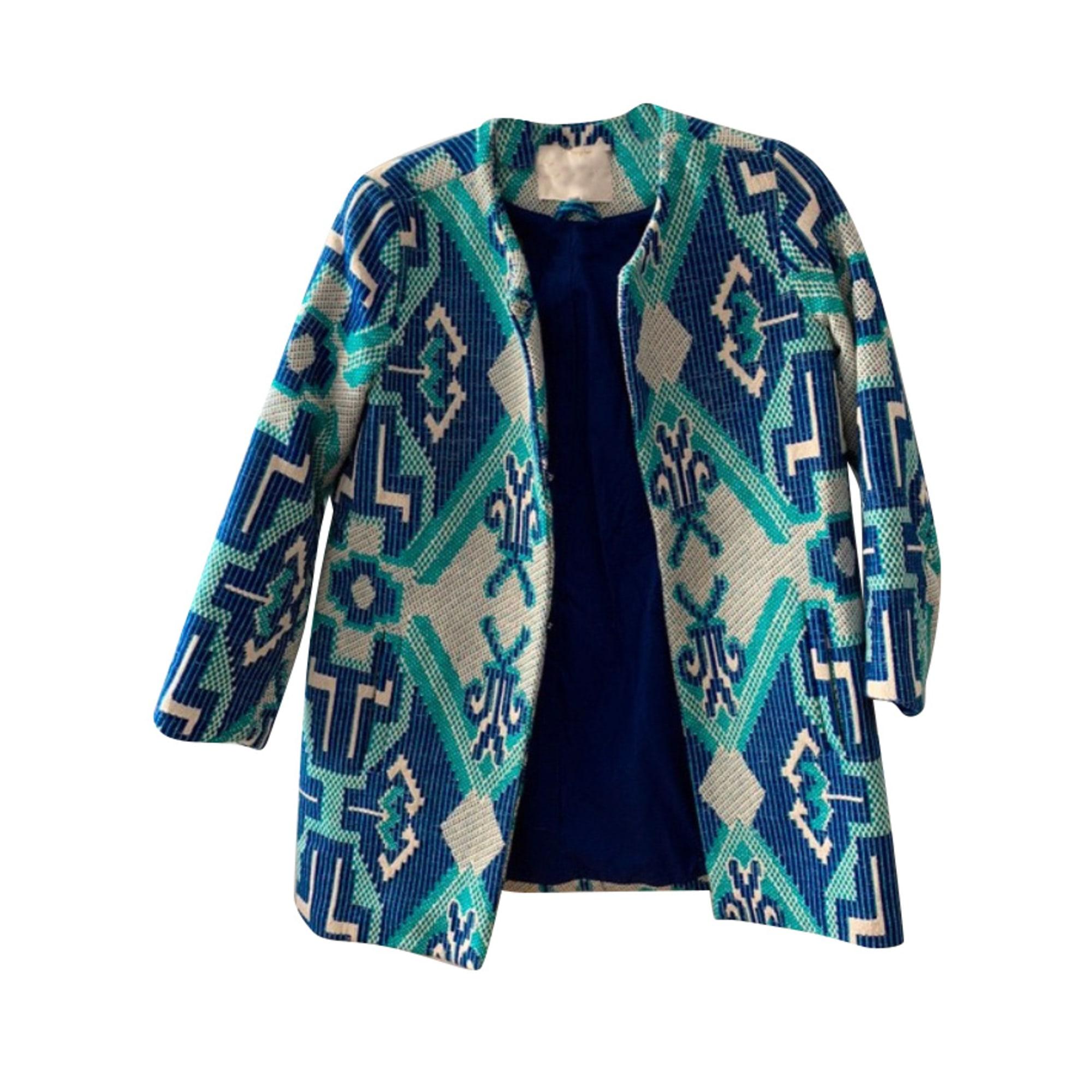 Veste MAJE Bleu, bleu marine, bleu turquoise