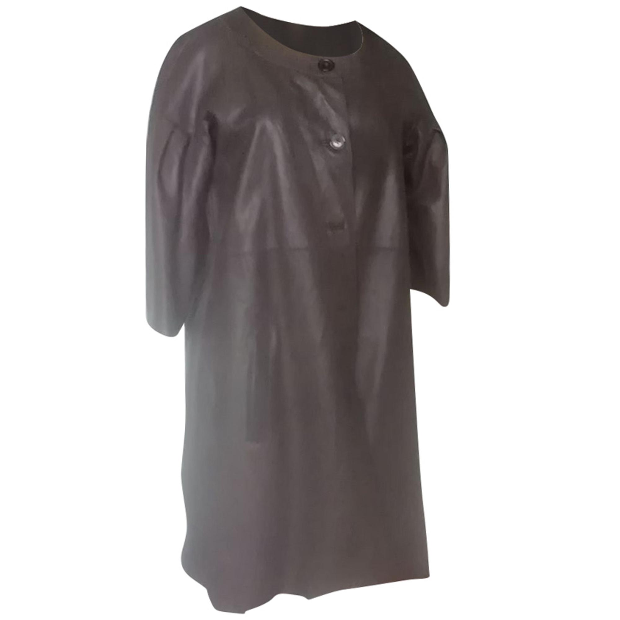 Manteau en cuir COMPTOIR DES COTONNIERS Kaki