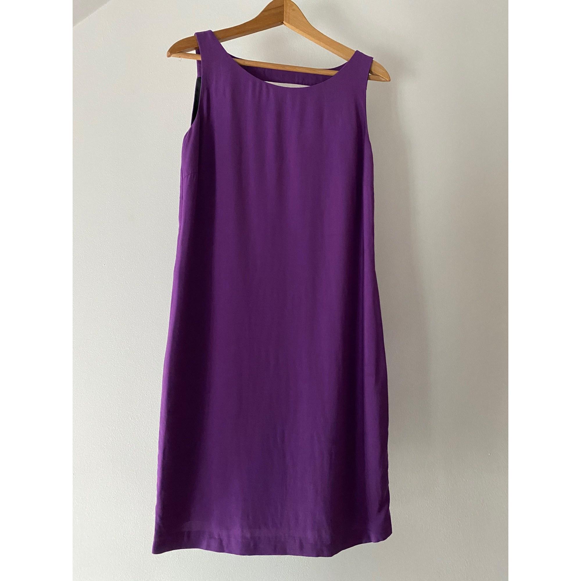 Robe mi-longue ZARA Violet, mauve, lavande