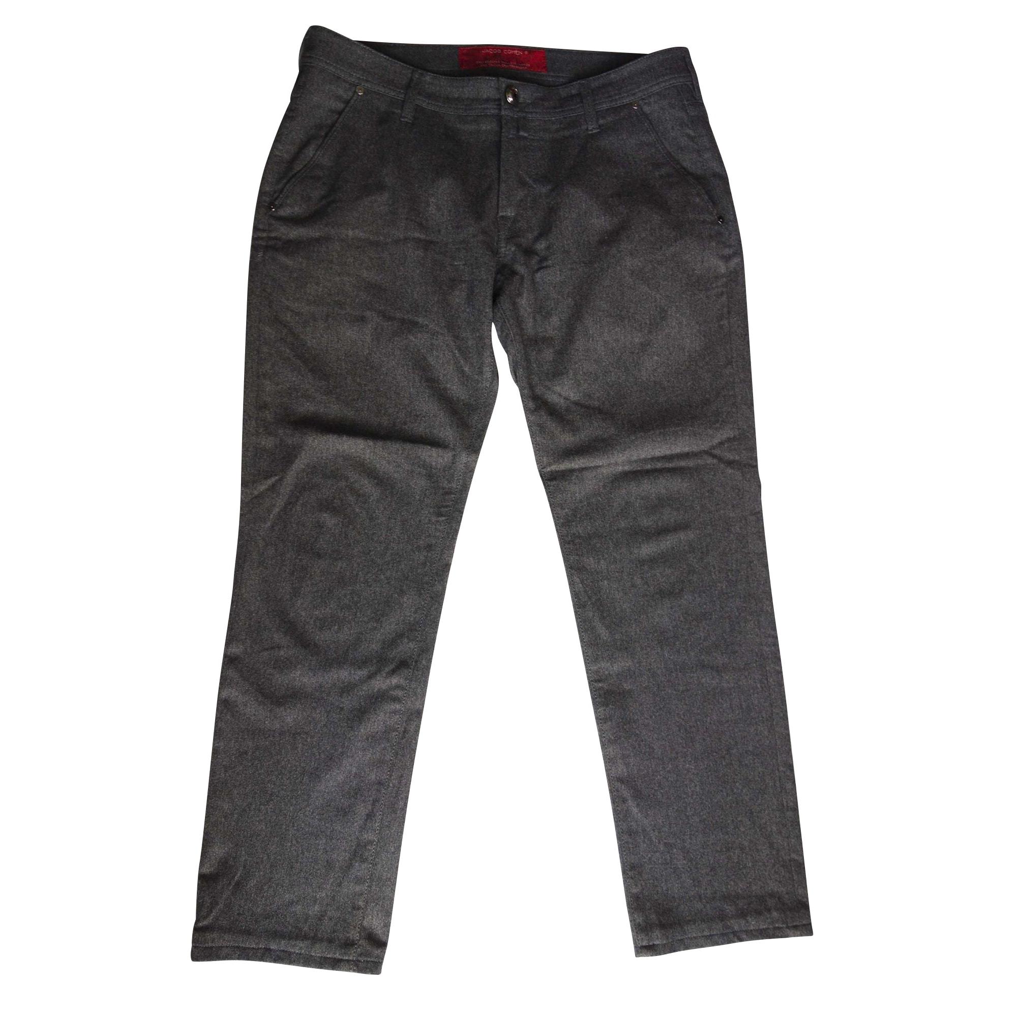 Jeans droit JACOB COHEN Gris, anthracite