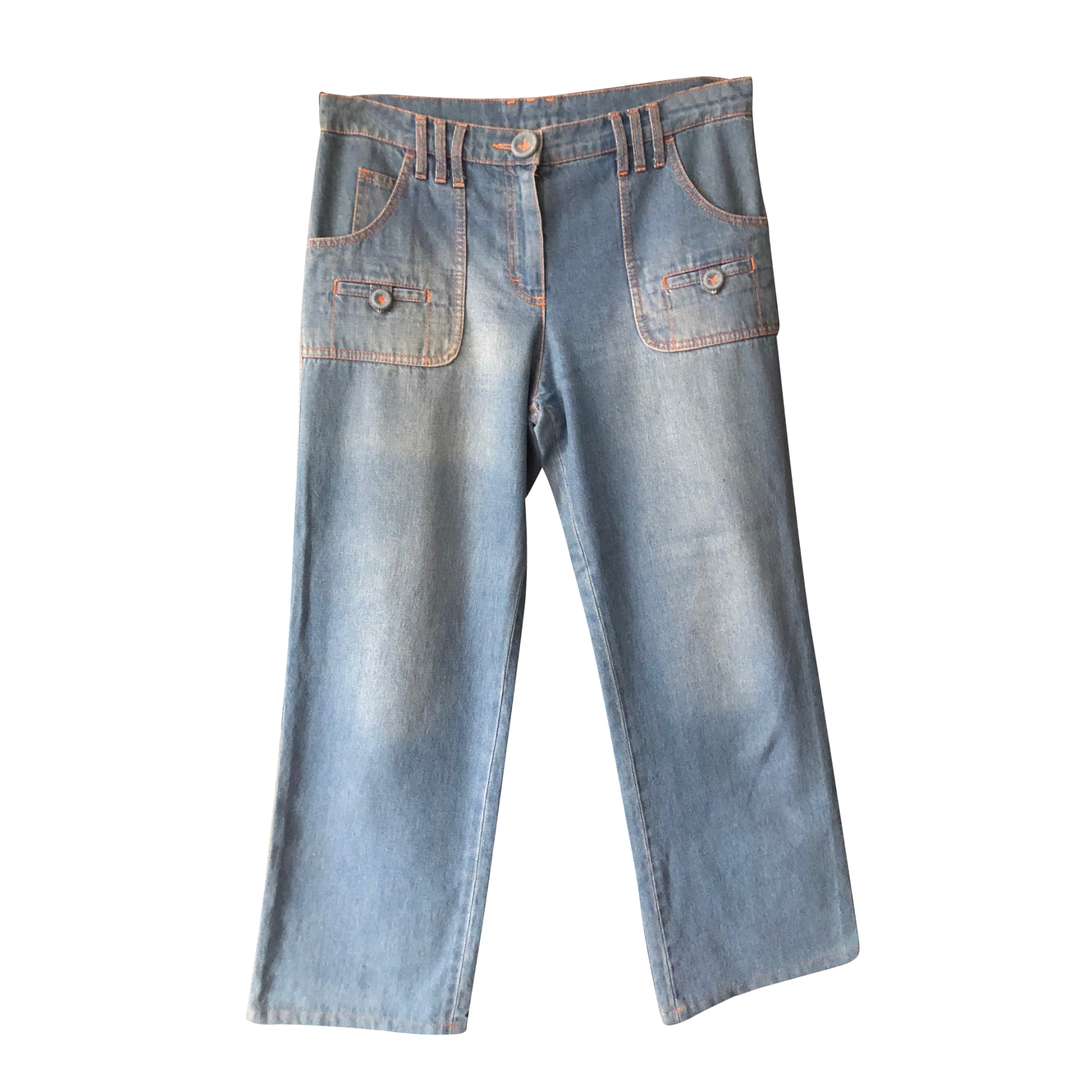 Pantalon droit SONIA RYKIEL Bleu, bleu marine, bleu turquoise