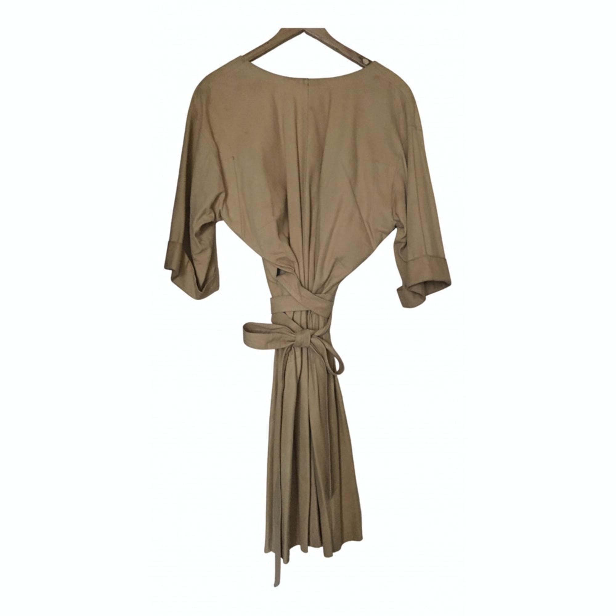 Robe mi-longue MARQUE INCONNUE Beige, camel