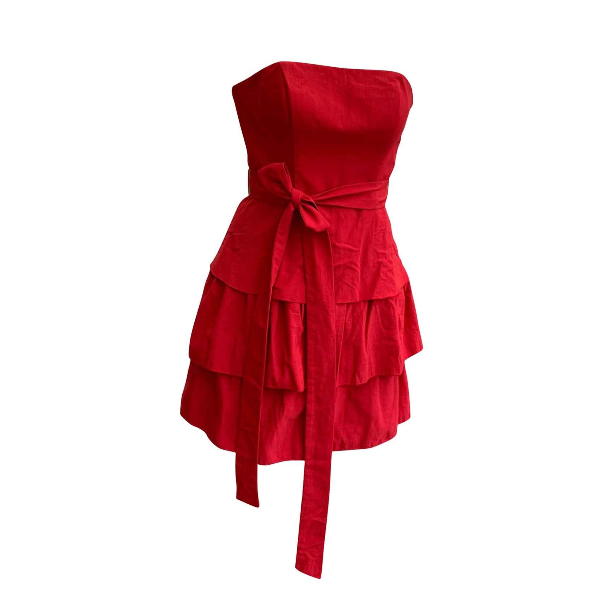 Robe bustier MAJE Rouge, bordeaux