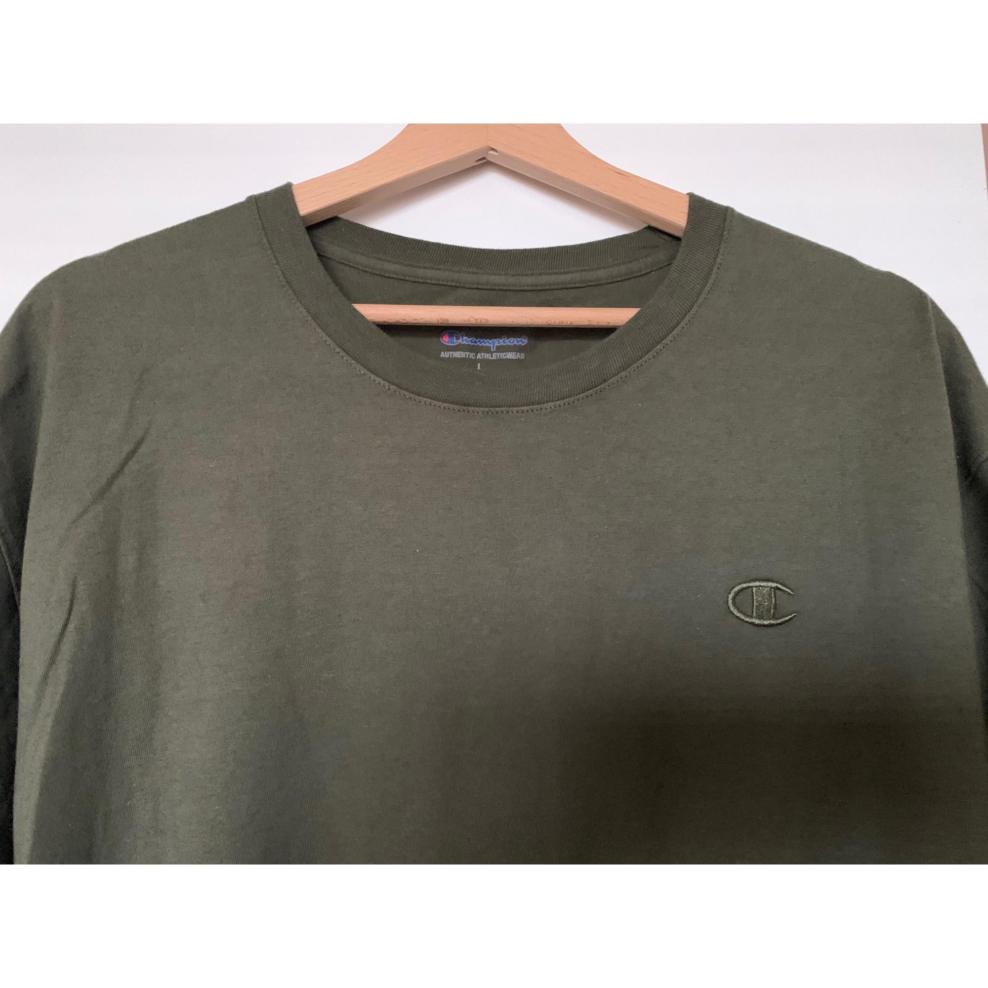 Tee-shirt CHAMPION Vert/kaki
