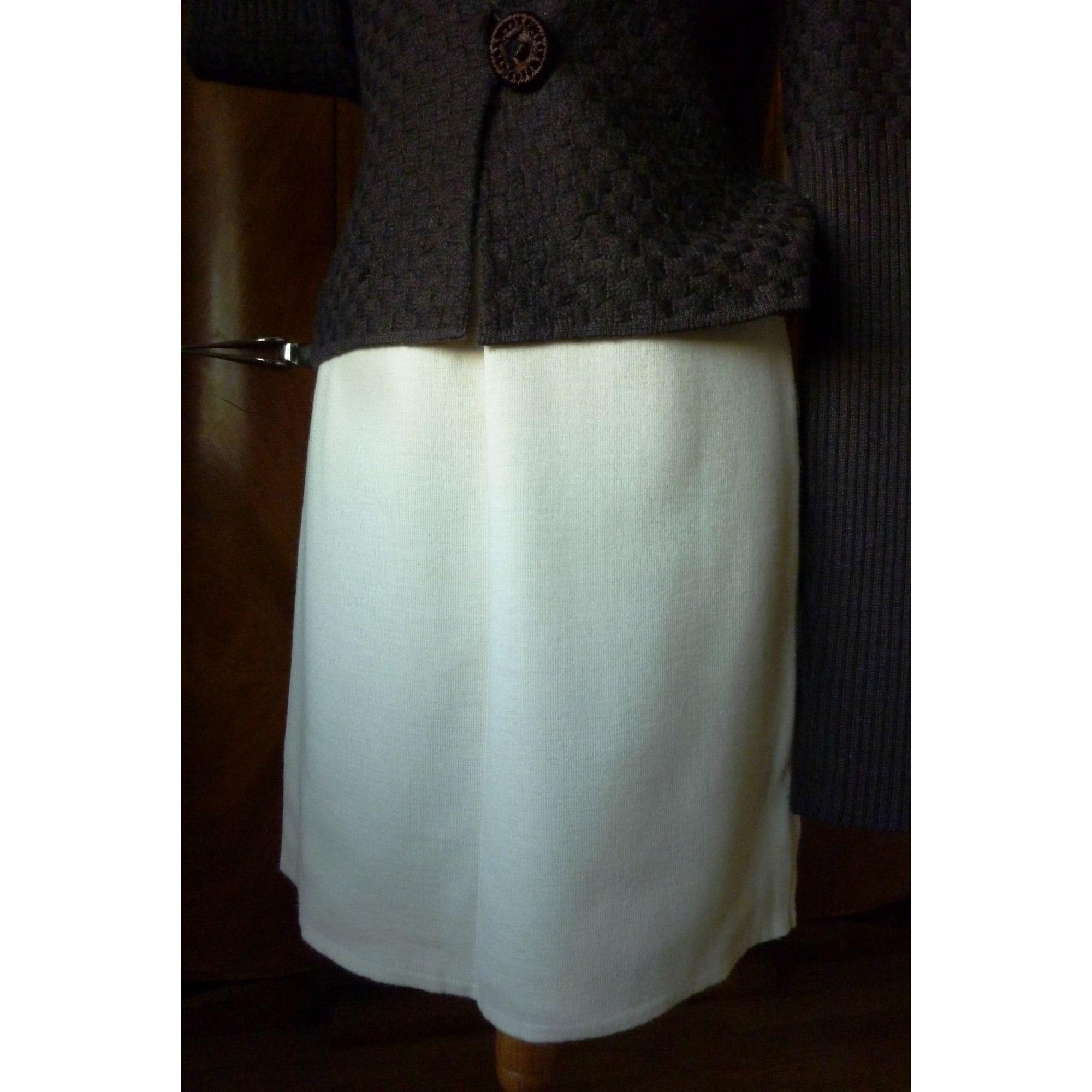 Jupe courte SERGE OHANNE Blanc, blanc cassé, écru