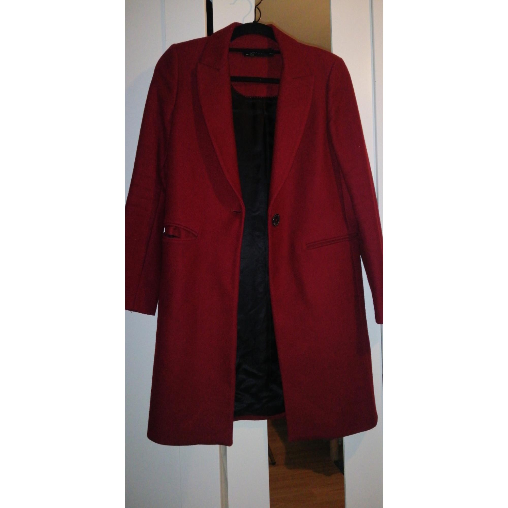 Manteau ZARA Rouge, bordeaux