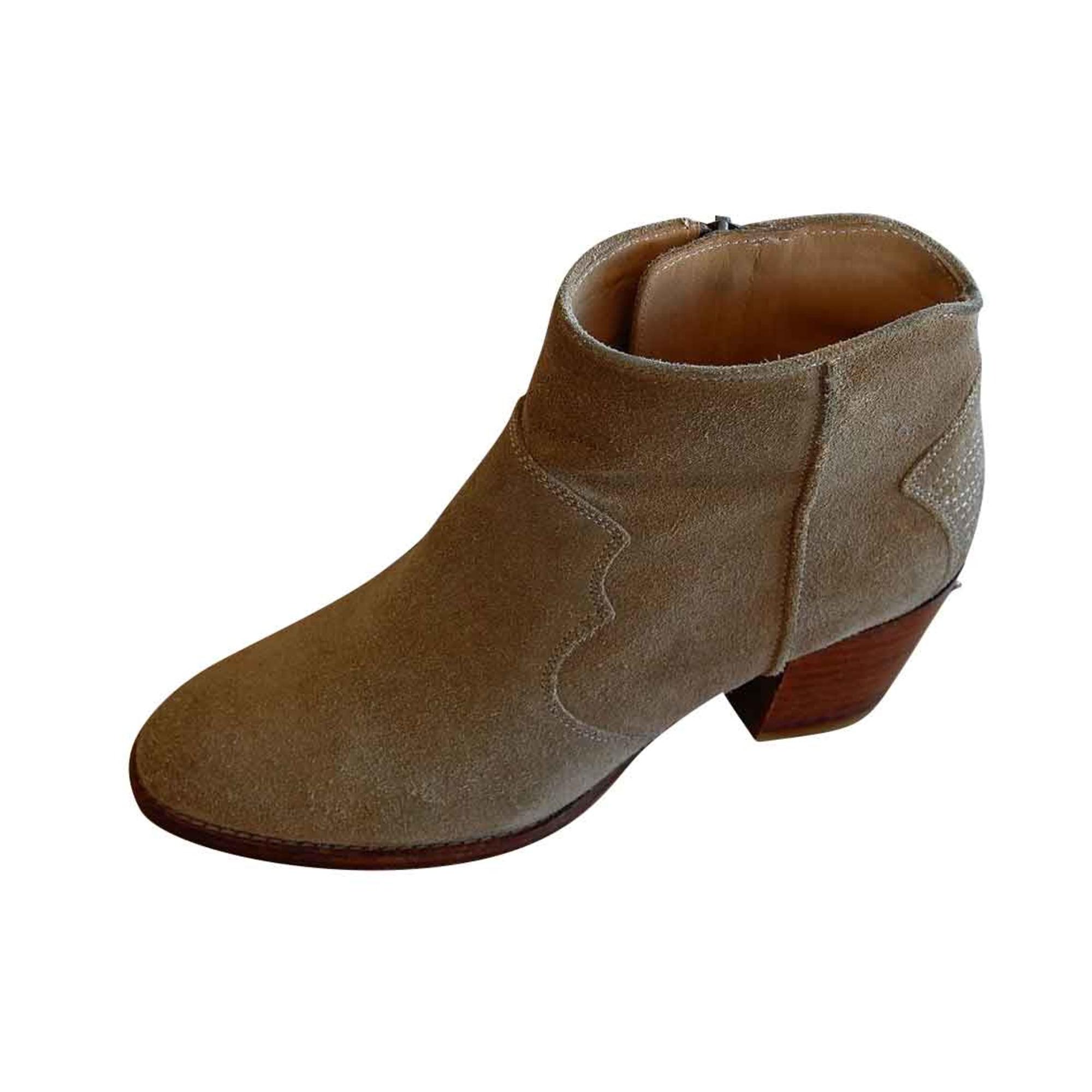 High Heel Ankle Boots ZADIG & VOLTAIRE Beige, camel