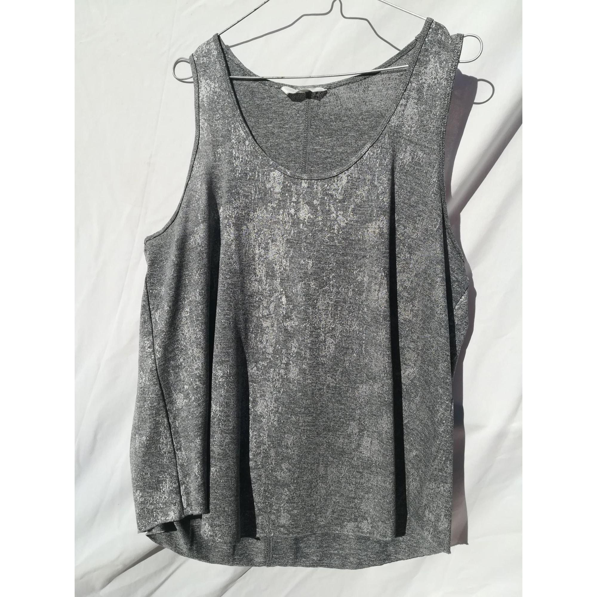 Top, tee-shirt H&M Argenté, acier