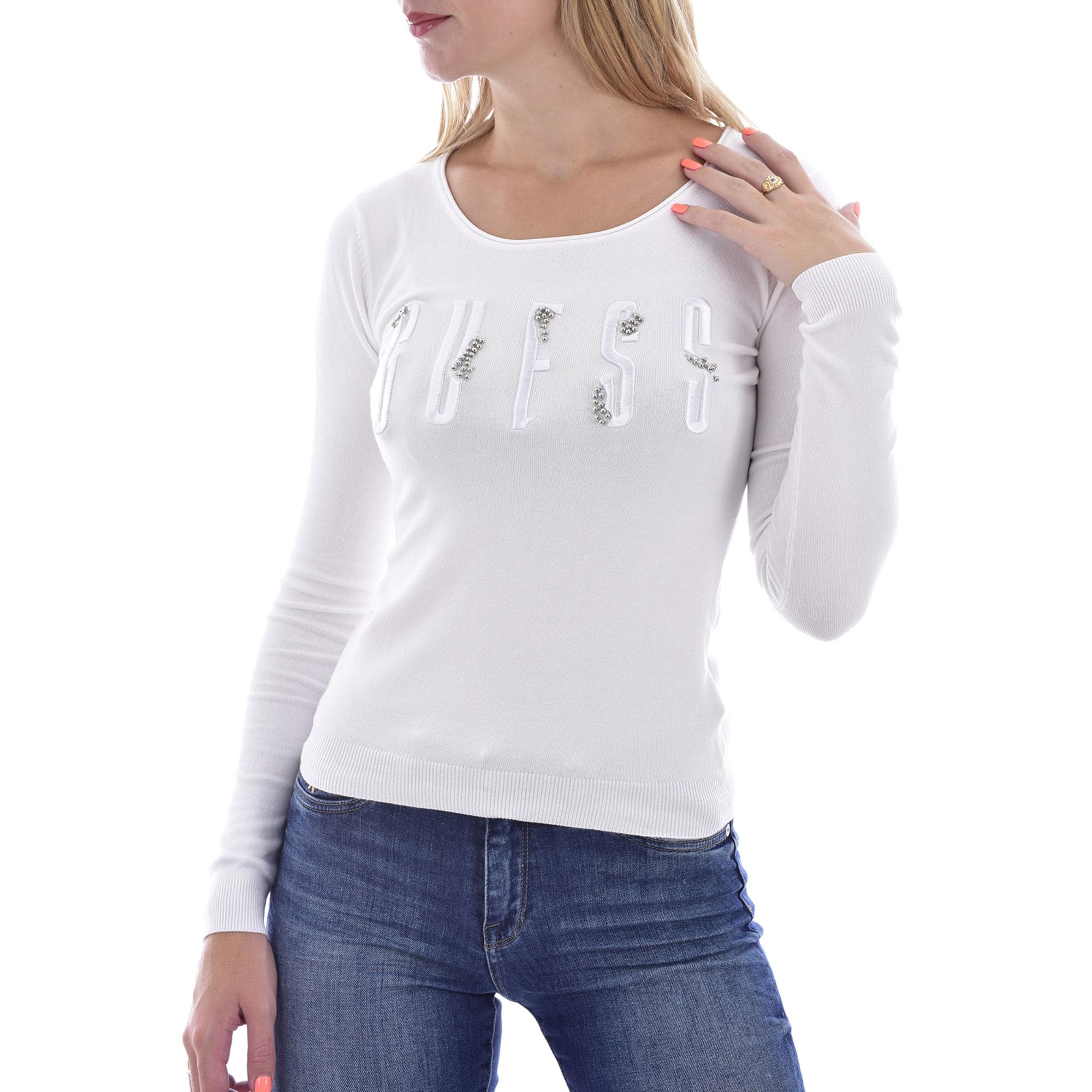 Pull GUESS Blanc, blanc cassé, écru