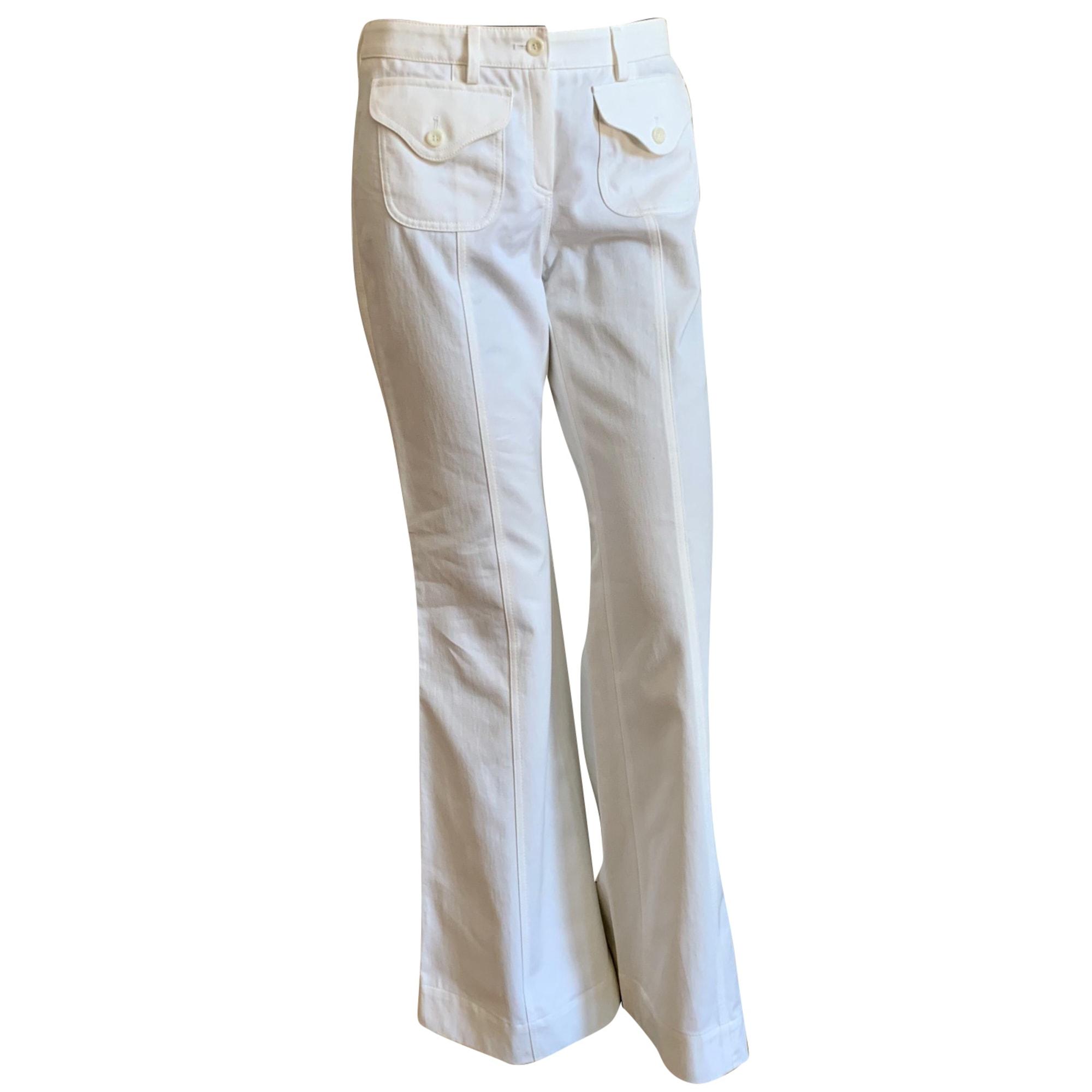 Pantalon évasé ANTIK BATIK Blanc, blanc cassé, écru