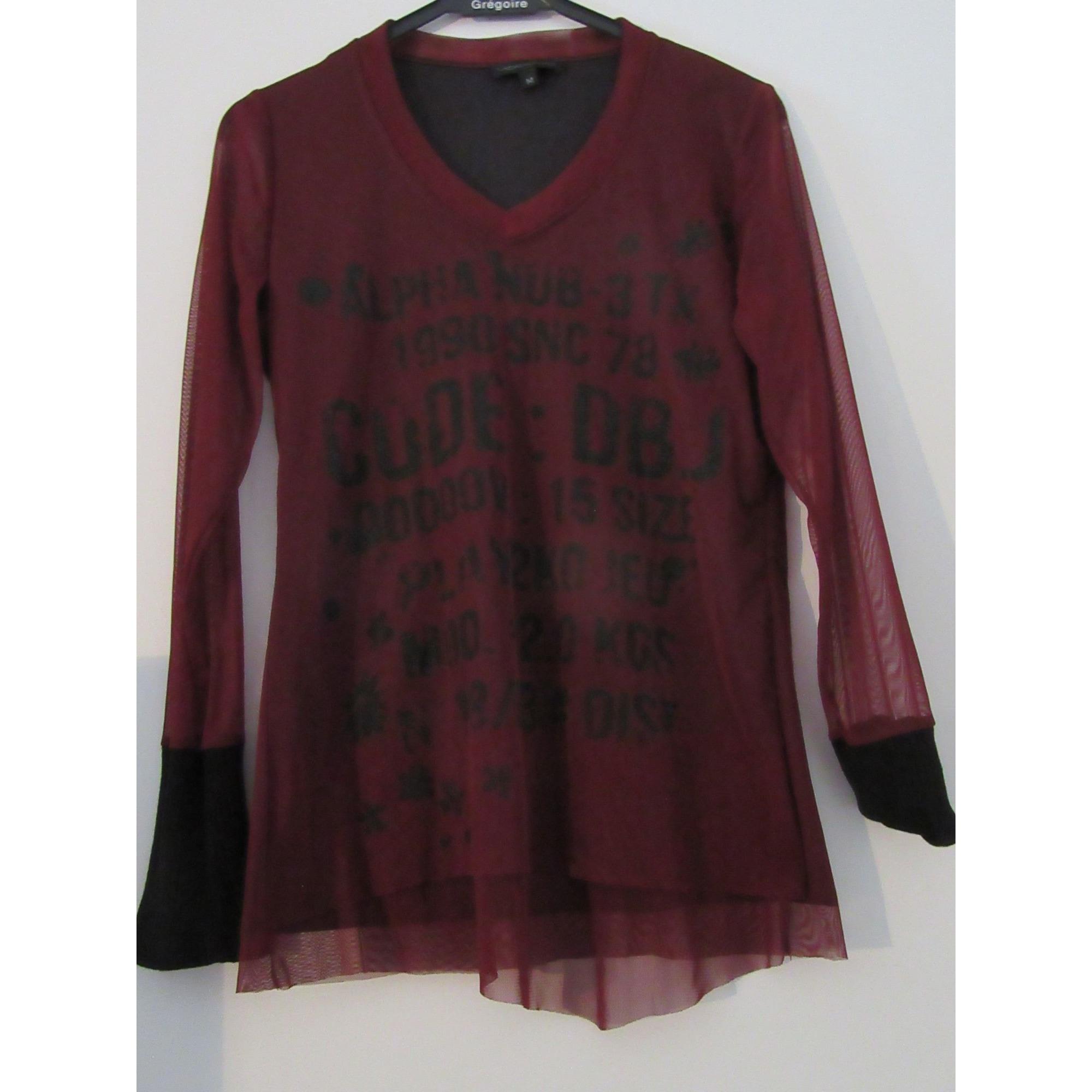 Top, tee-shirt VOODOO Rouge, bordeaux