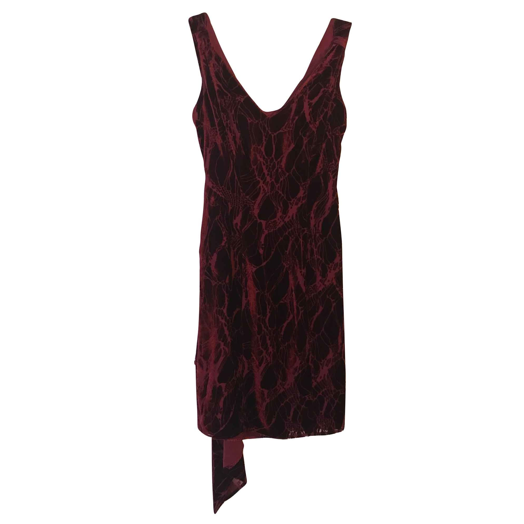 Robe courte THIERRY MUGLER Rouge, bordeaux