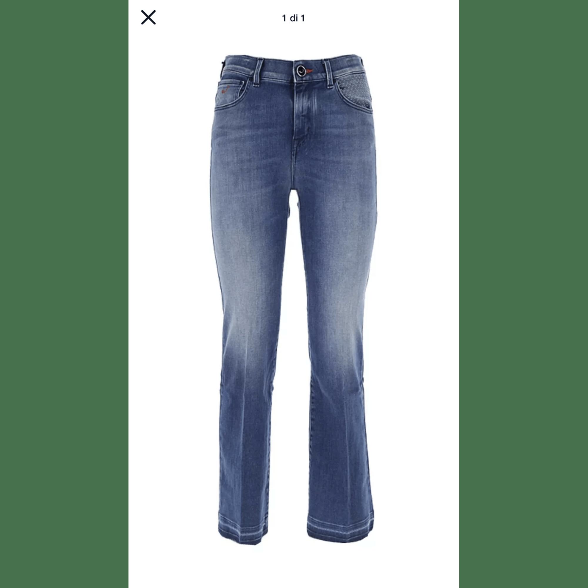 Jeans très evasé, patte d'éléphant JACOB COHEN Bleu, bleu marine, bleu turquoise