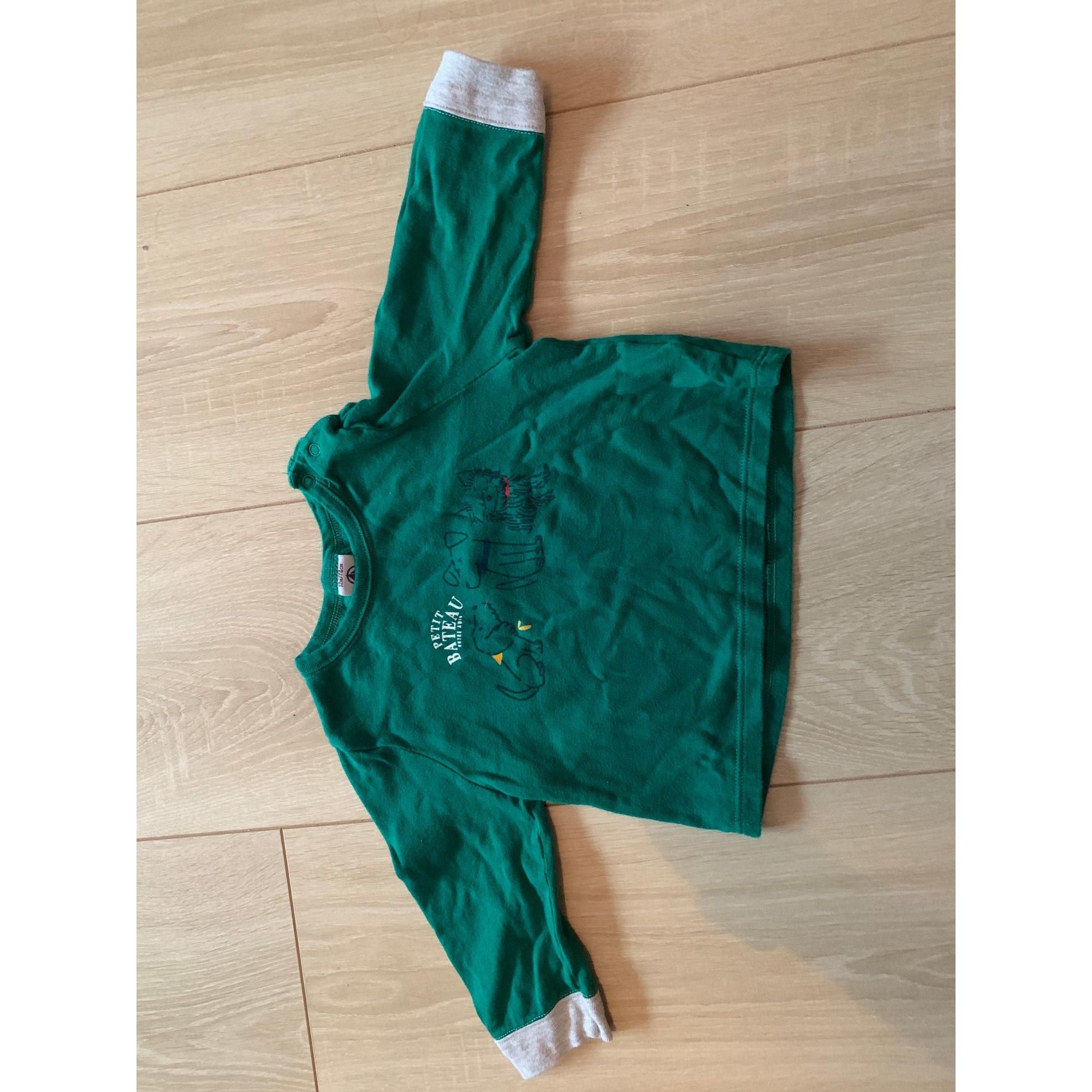Top, tee shirt PETIT BATEAU Vert