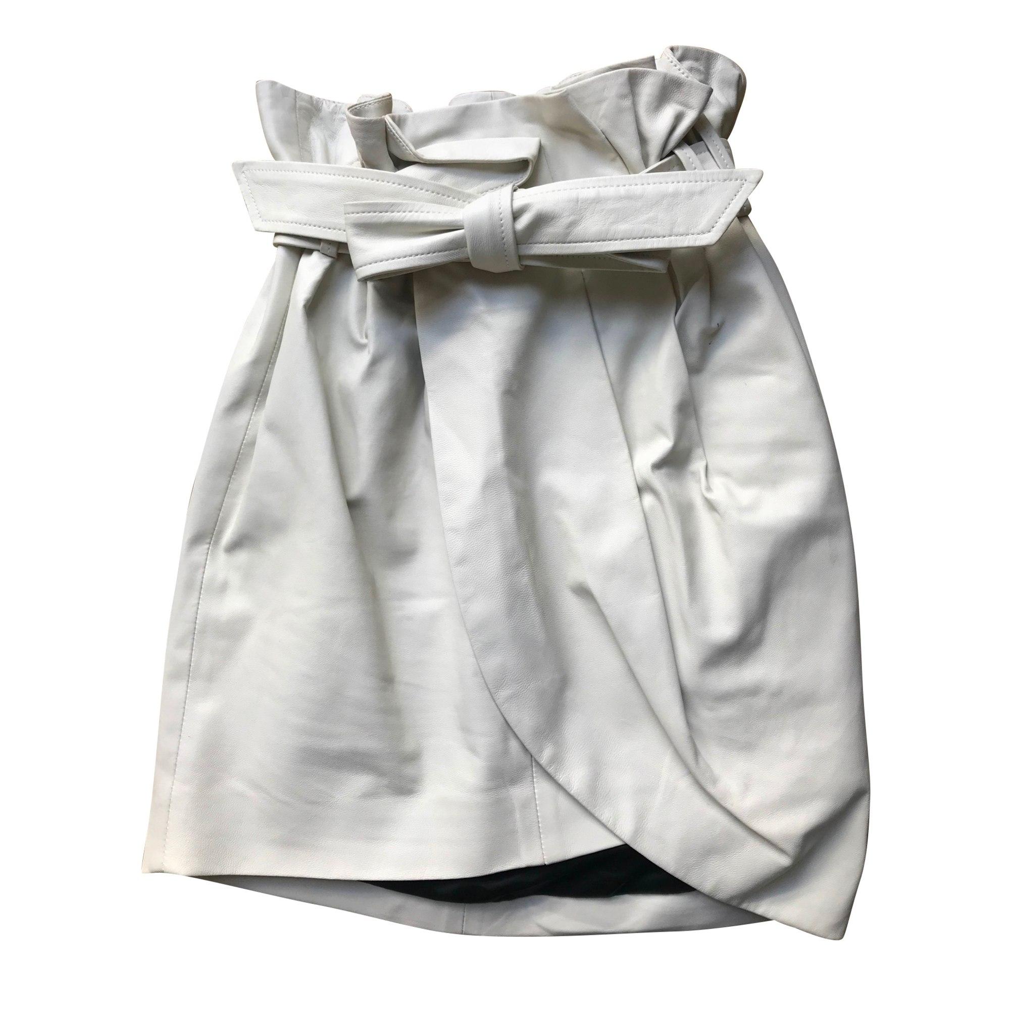 Jupe courte IRO Blanc, blanc cassé, écru