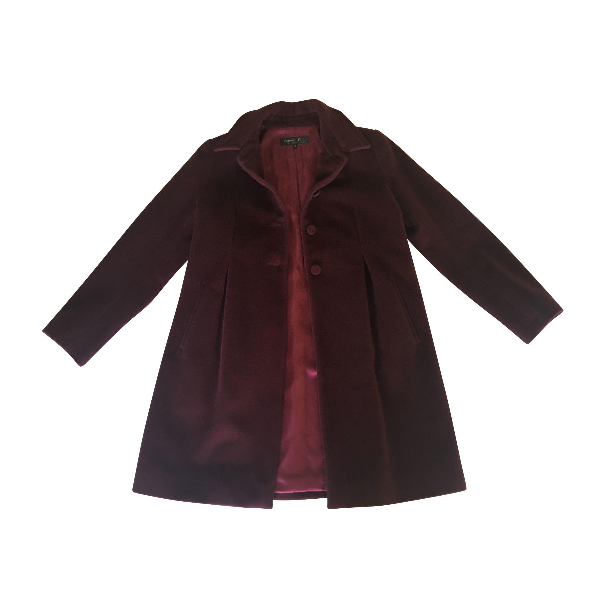 Manteau AGNÈS B. Rouge, bordeaux