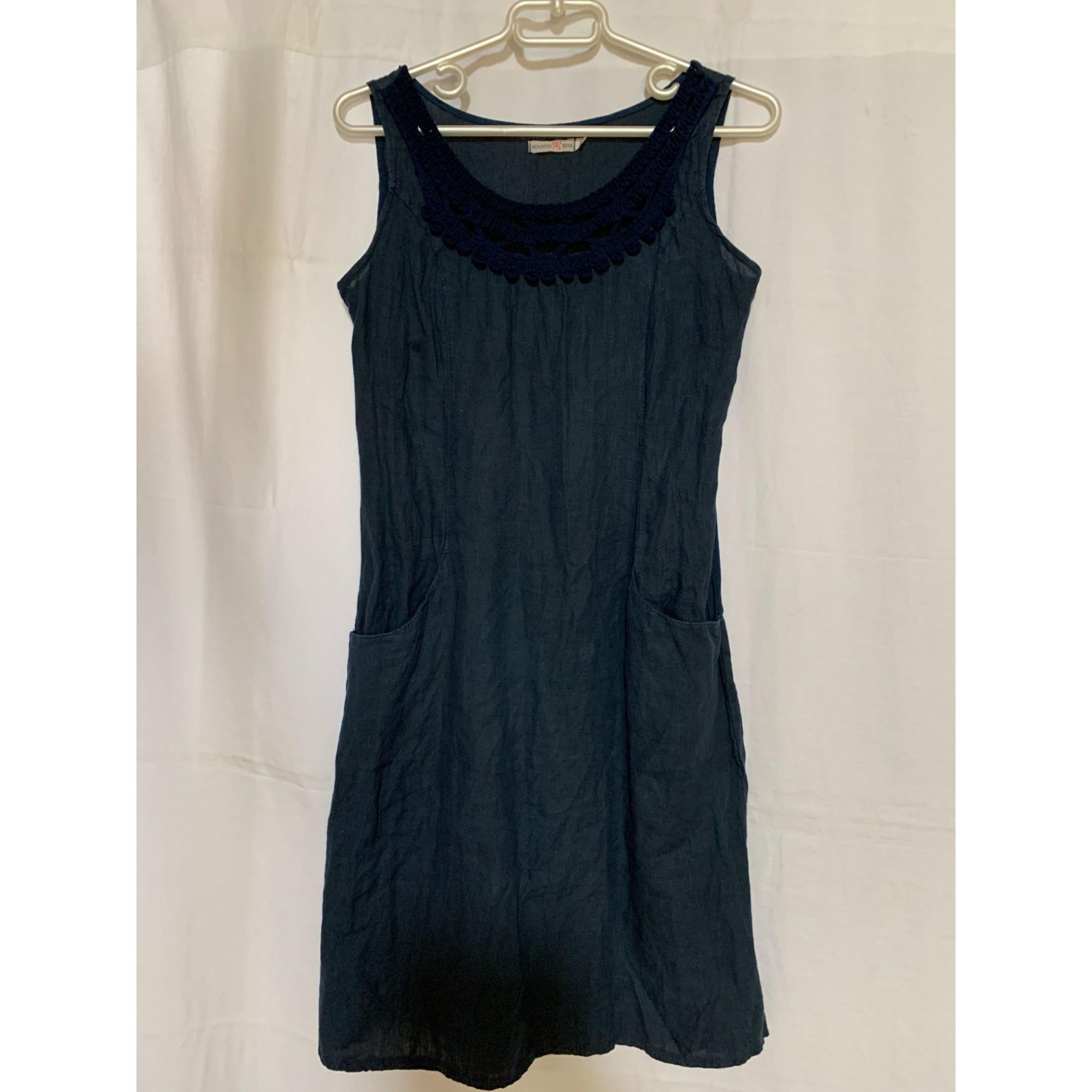 Robe courte RENATTO BENE Bleu, bleu marine, bleu turquoise