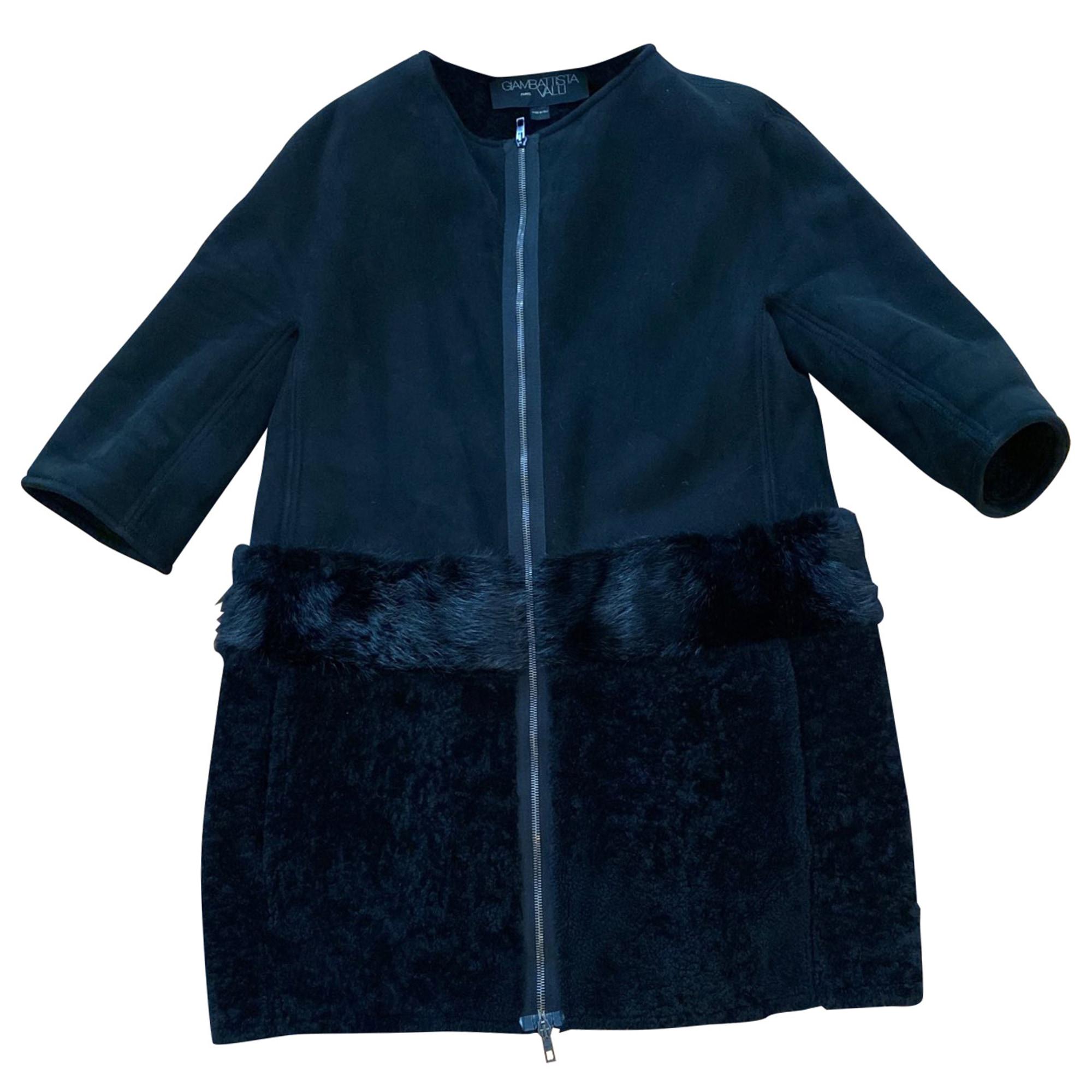 Manteau en fourrure GIAMBATTISTA VALLI Noir
