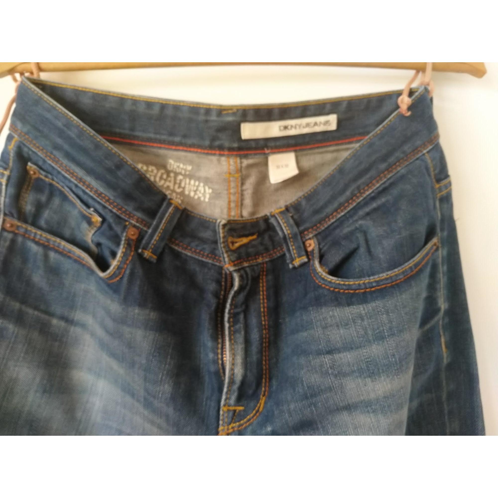 Jeans droit DKNY JEANS Bleu, bleu marine, bleu turquoise