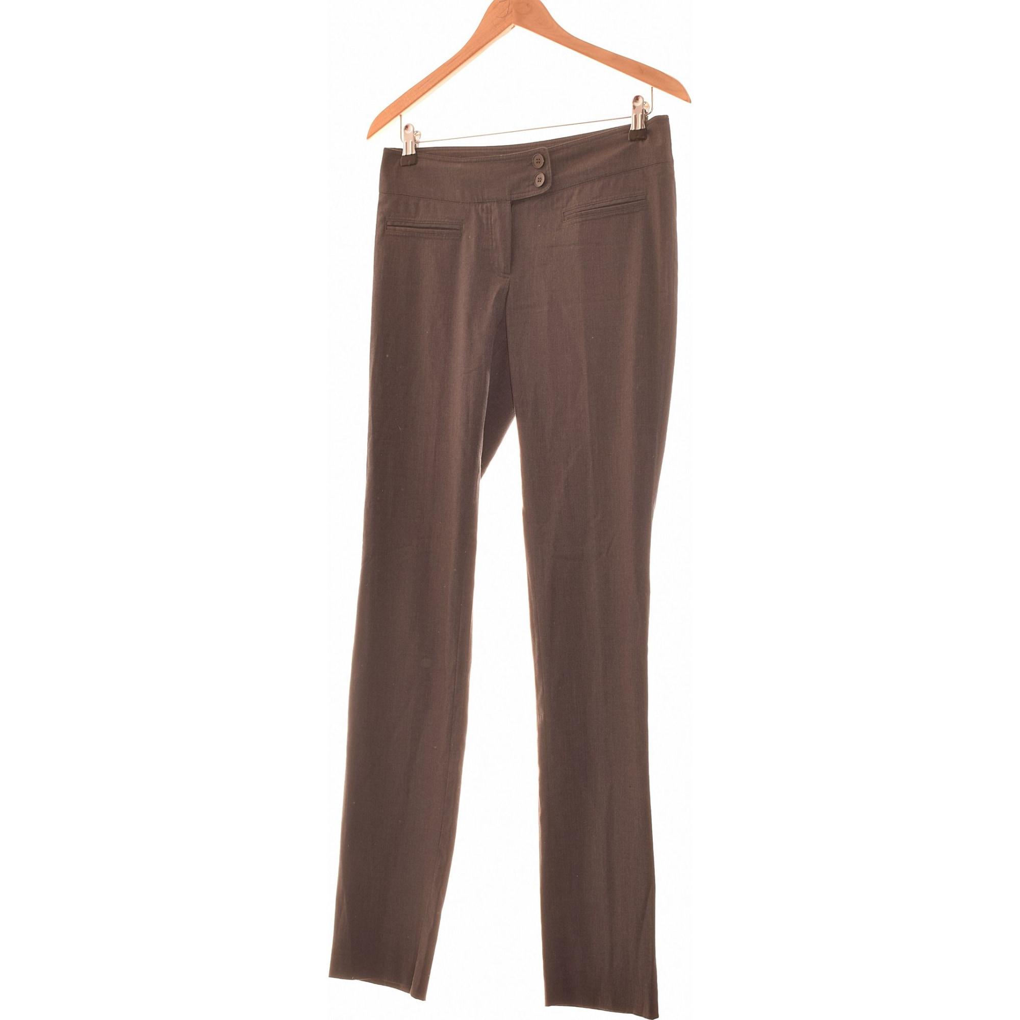Pantalon droit MANGO Gris, anthracite