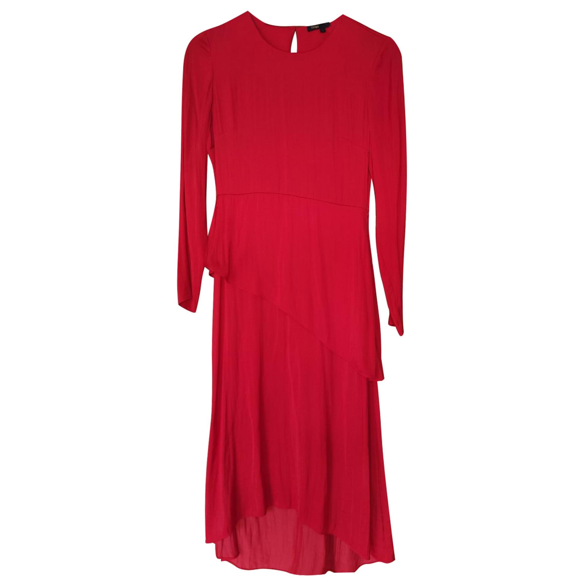 Robe mi-longue MAJE Rouge, bordeaux