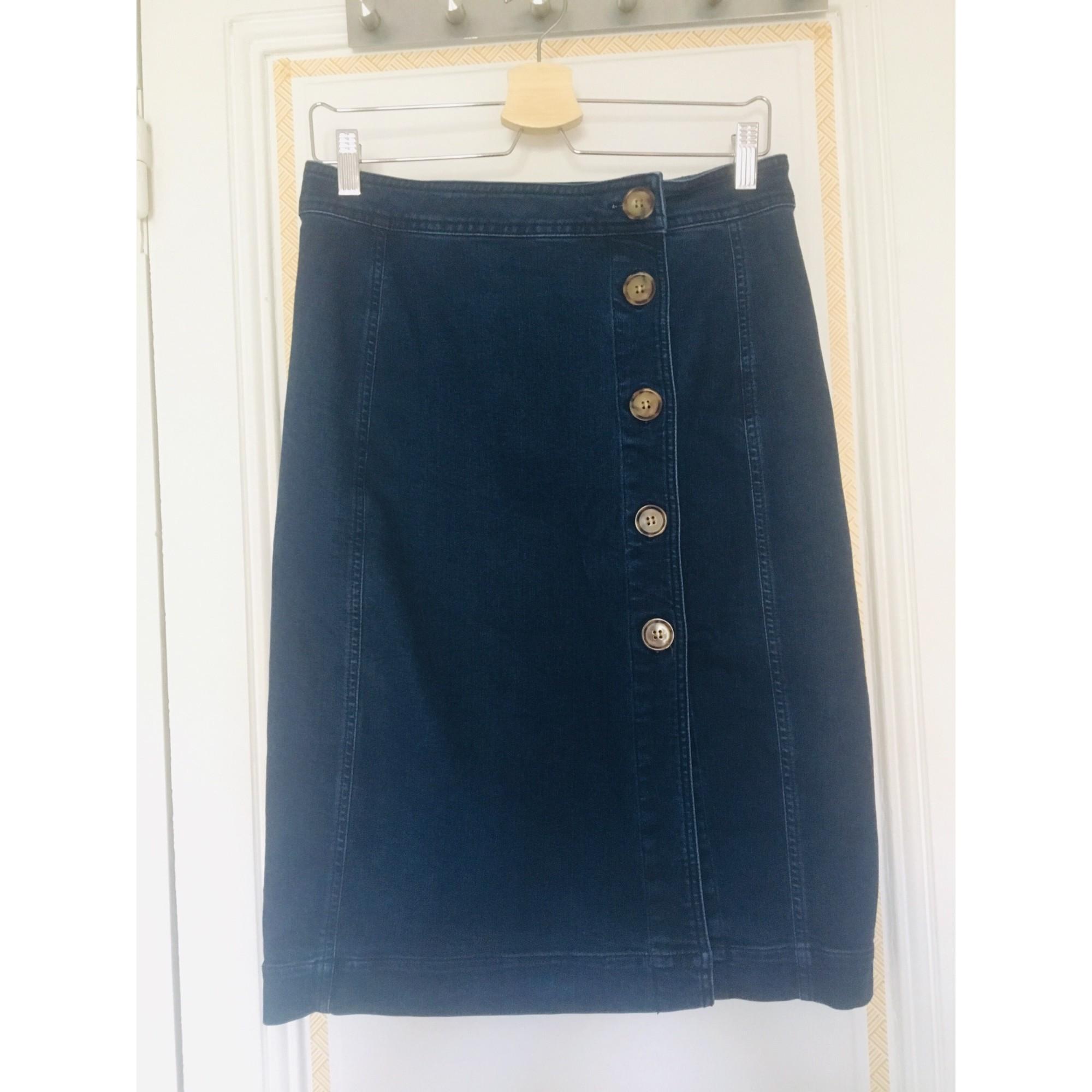 Jupe mi-longue SÉZANE Bleu, bleu marine, bleu turquoise