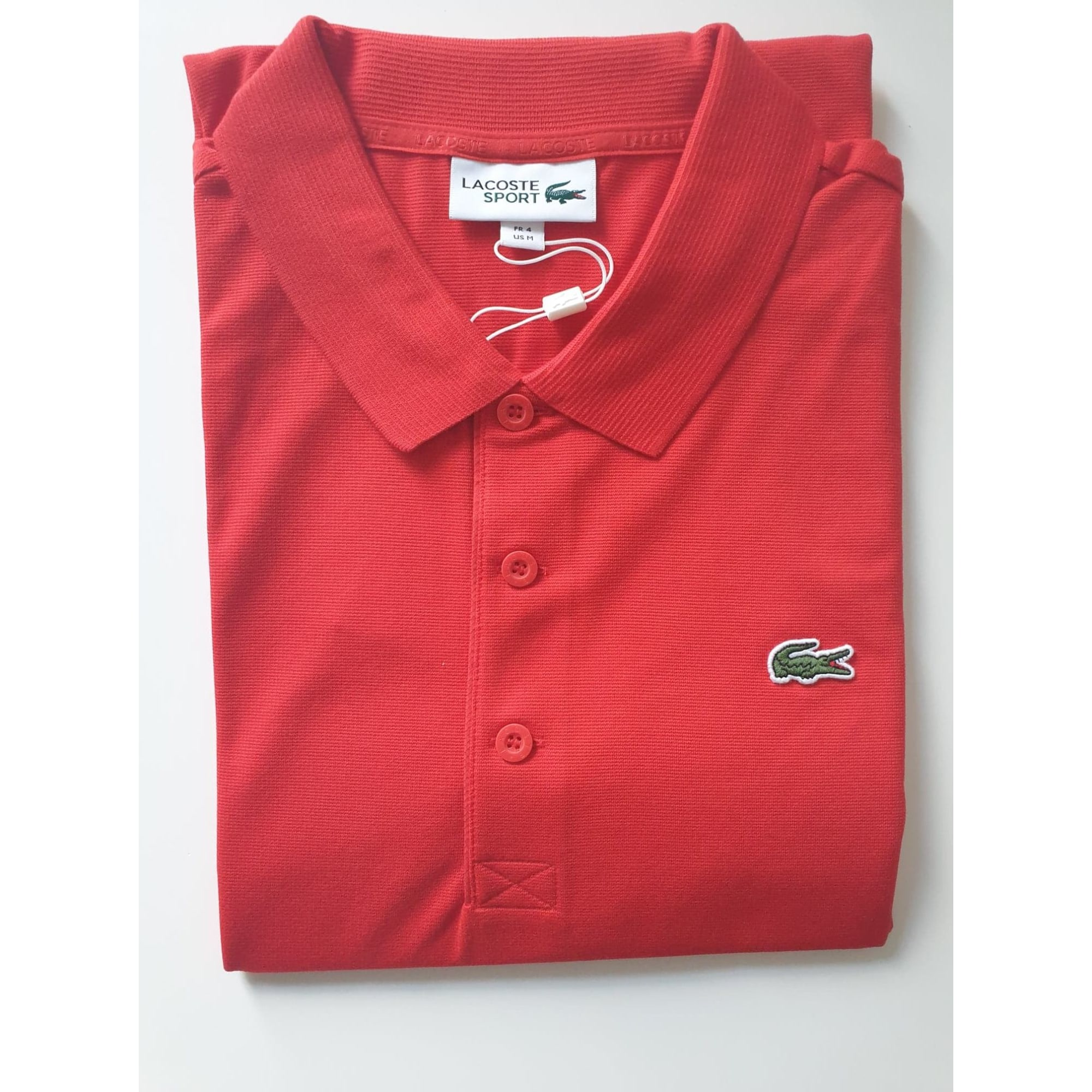 Polo LACOSTE Rouge, bordeaux