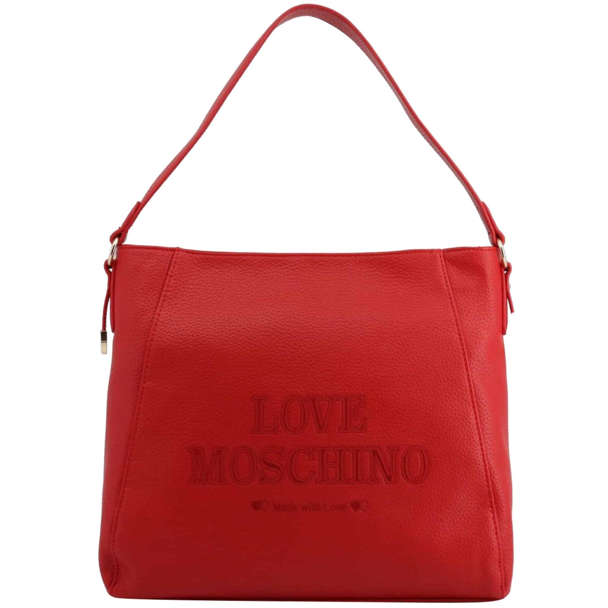 Sac XL en cuir LOVE MOSCHINO Rouge, bordeaux