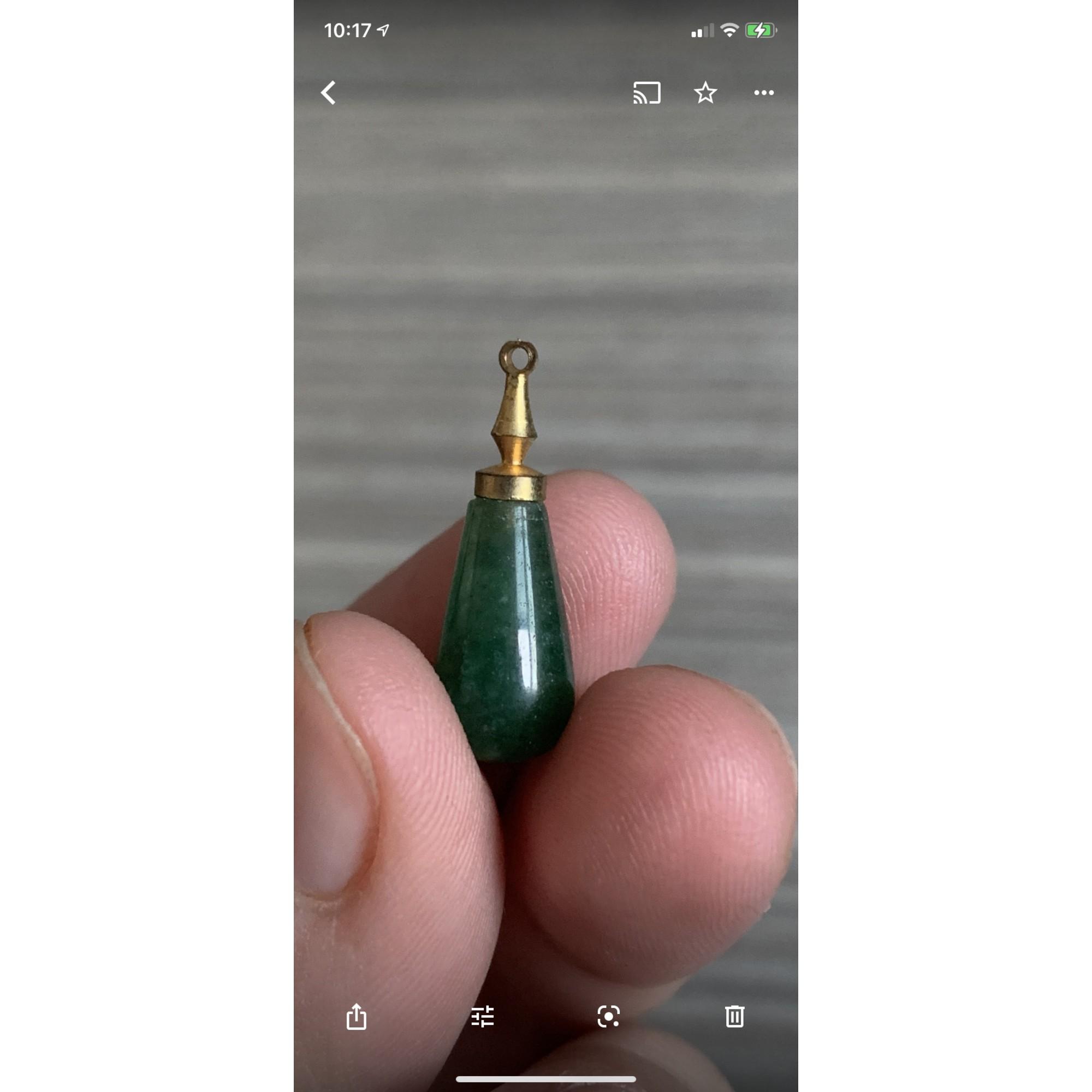 Pendentif, collier pendentif VINTAGE Vert