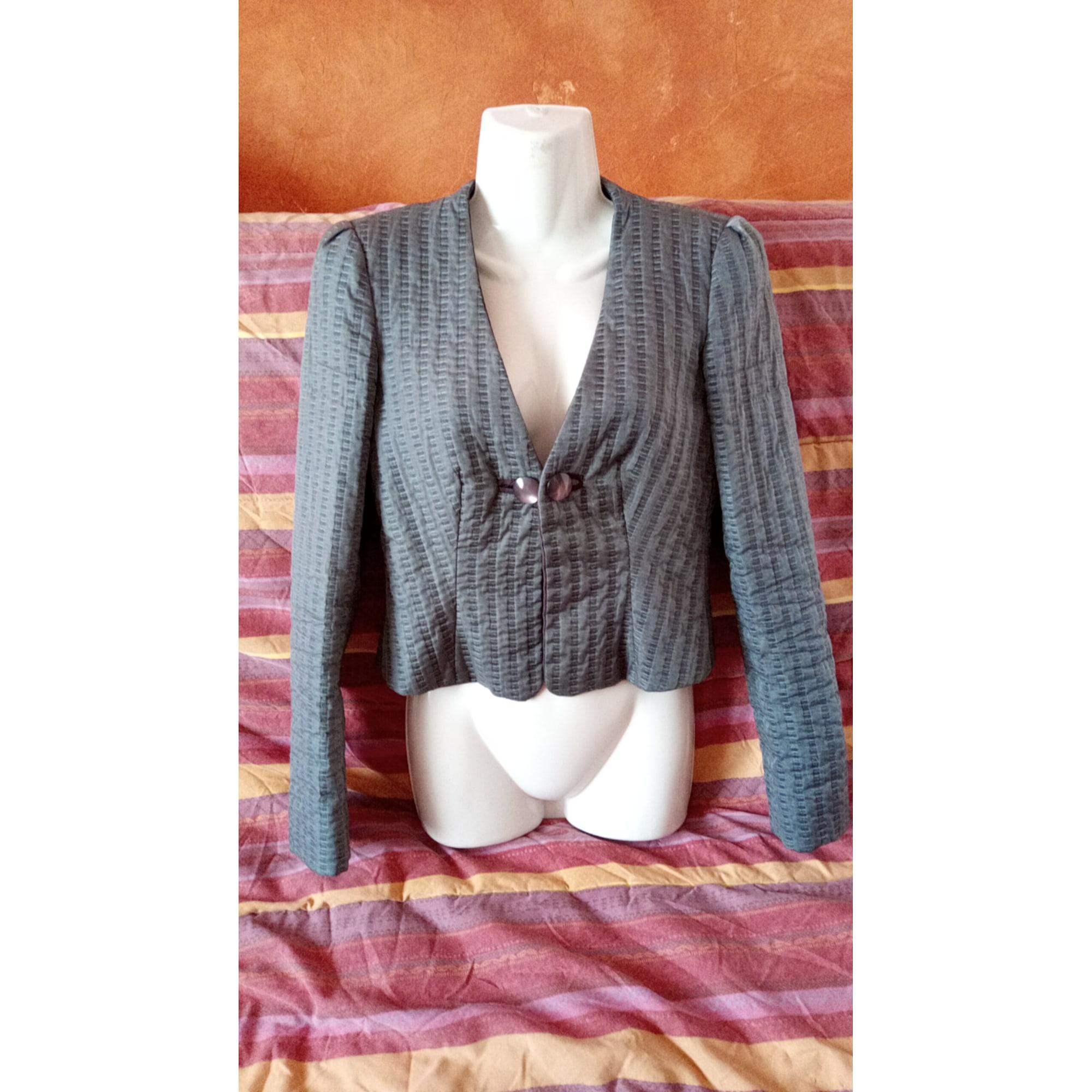 Blazer, veste tailleur GIORGIO ARMANI Argenté, acier