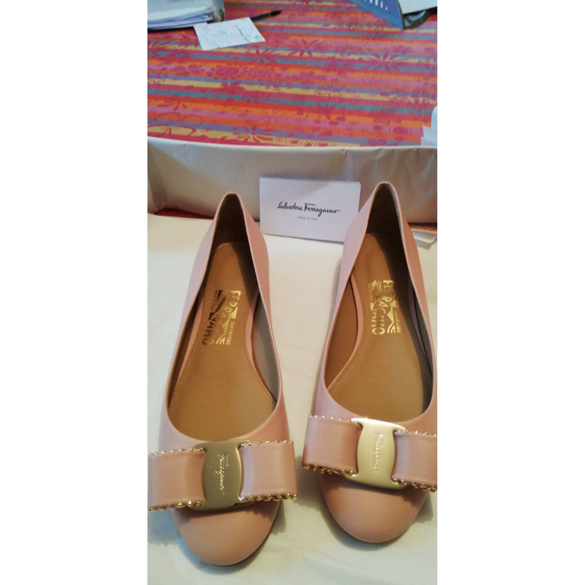 Ballerines SALVATORE FERRAGAMO Rose, fuschia, vieux rose