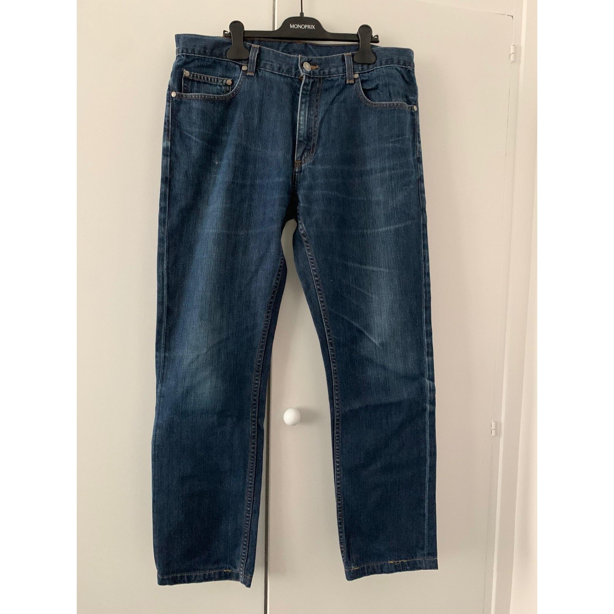 Pantalon droit BROOKS BROTHERS Bleu, bleu marine, bleu turquoise