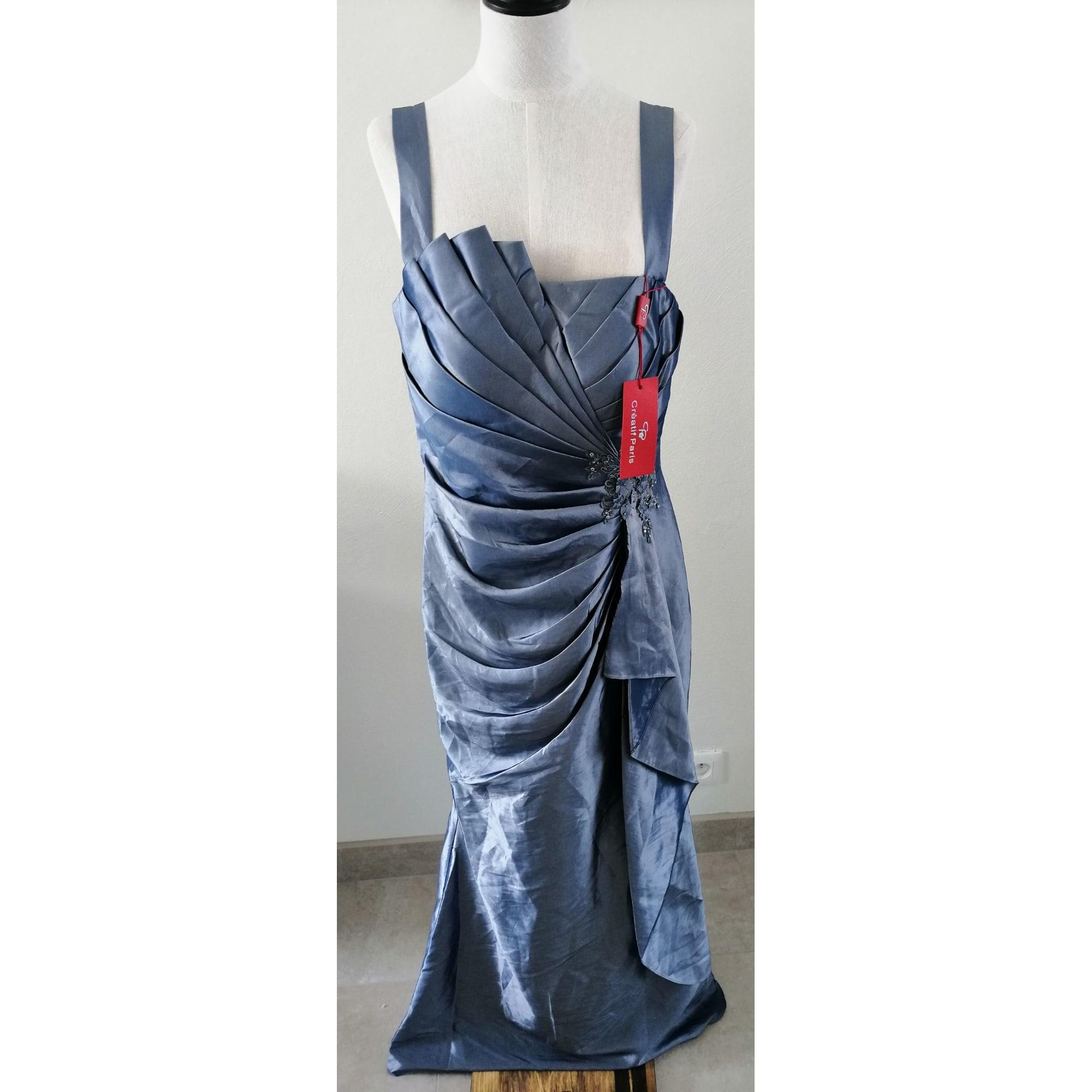 Robe longue CRÉATIF PARIS Gris, anthracite
