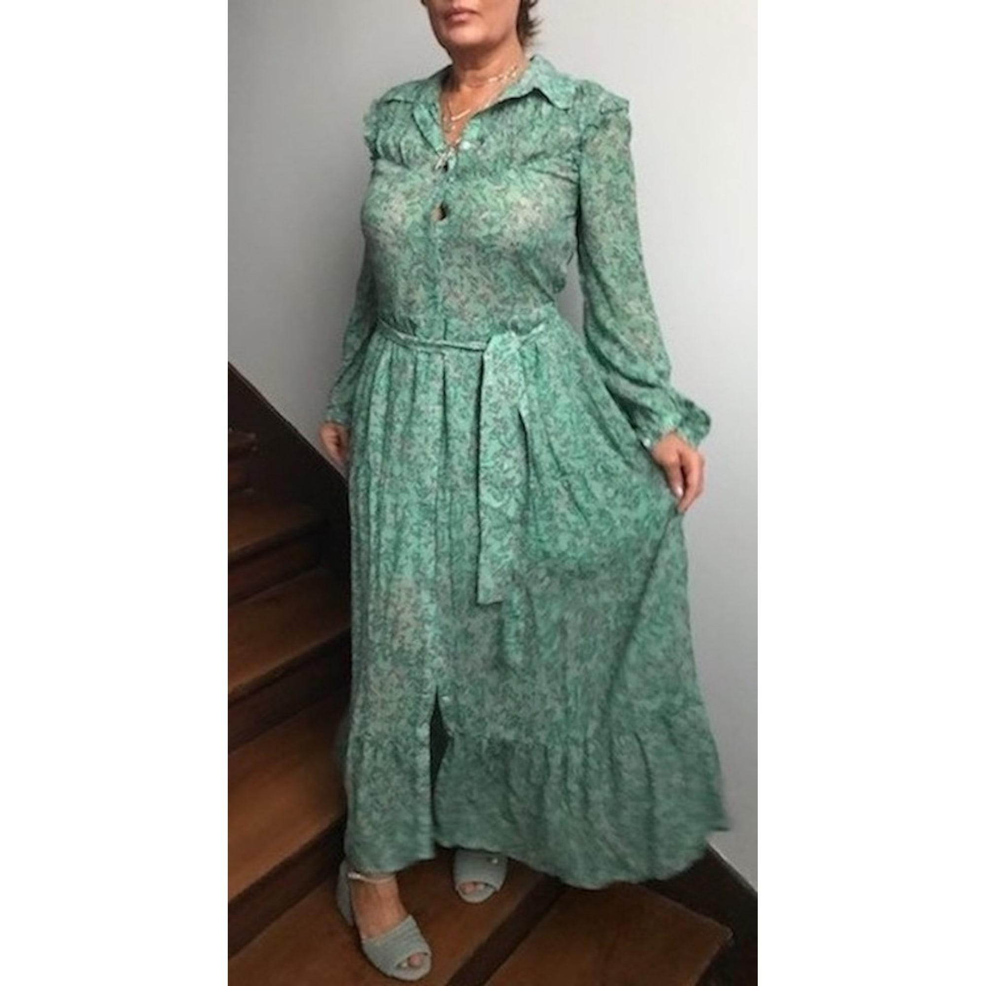 Robe longue BERENICE Vert