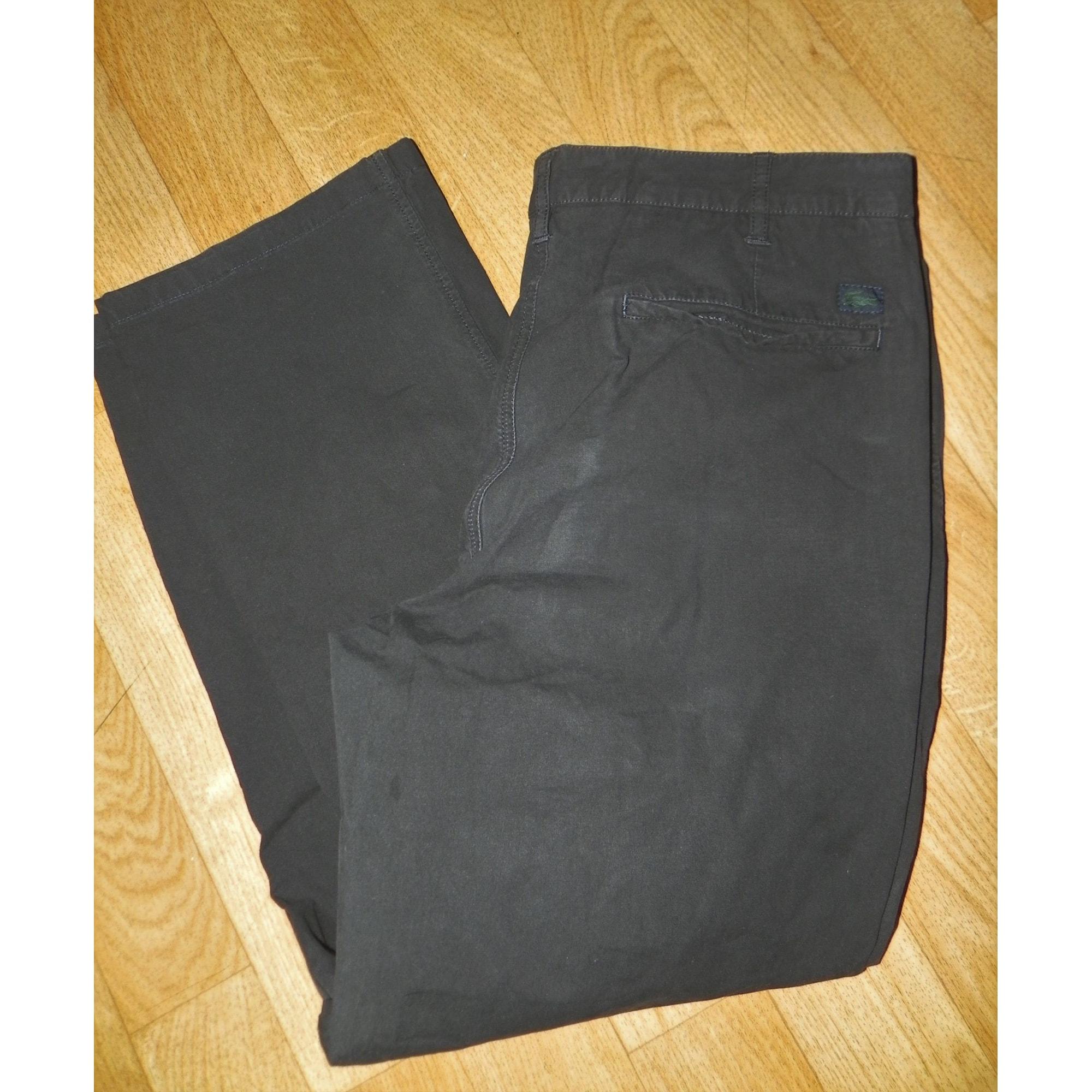 Pantalon droit LACOSTE Noir