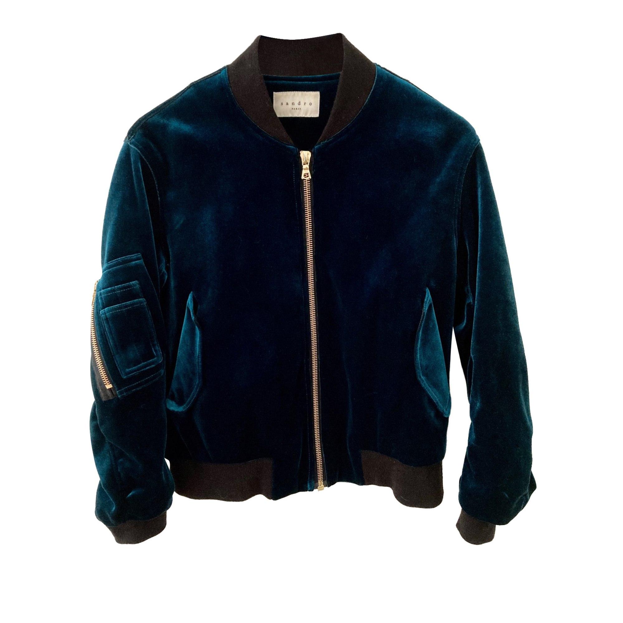 Blouson SANDRO Bleu, bleu marine, bleu turquoise