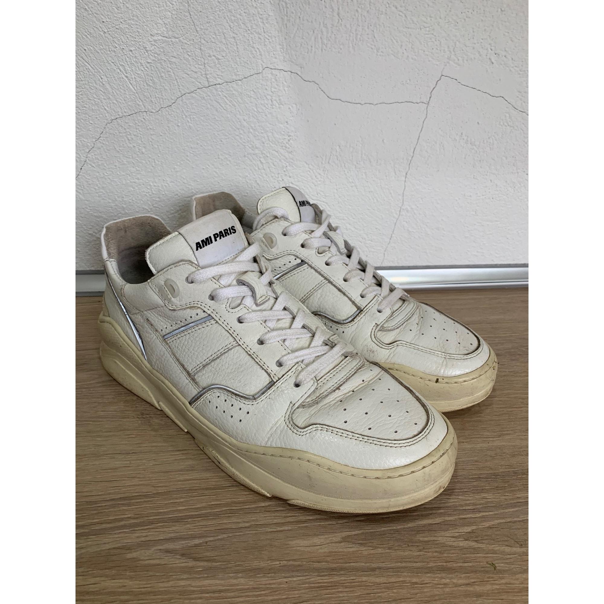 Baskets AMI Blanc, blanc cassé, écru
