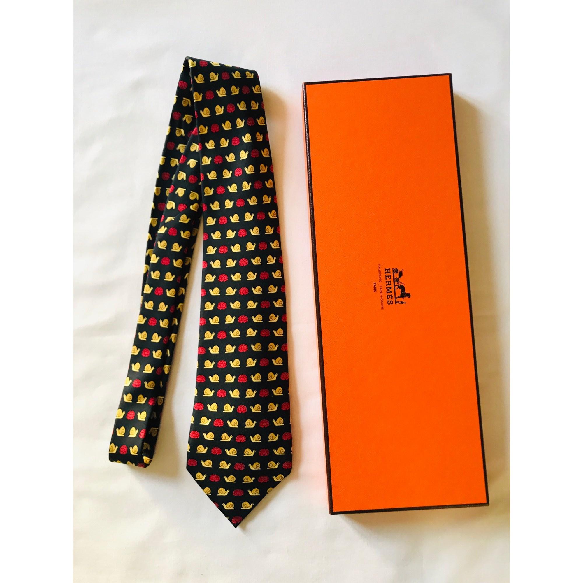 Krawatte HERMÈS Schwarz
