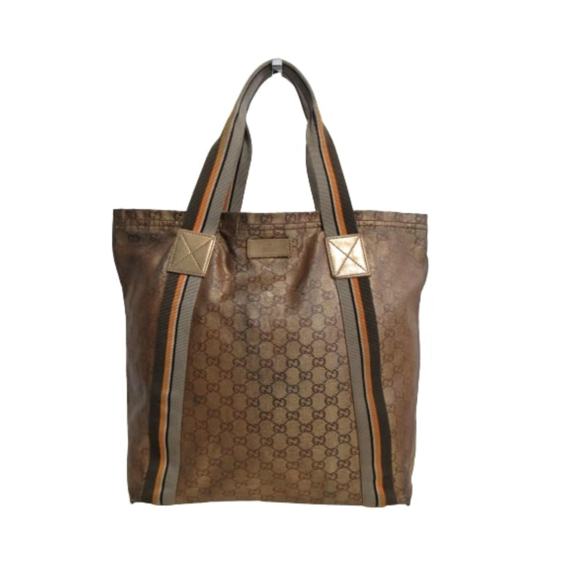 Sac XL en tissu GUCCI Doré, bronze, cuivre