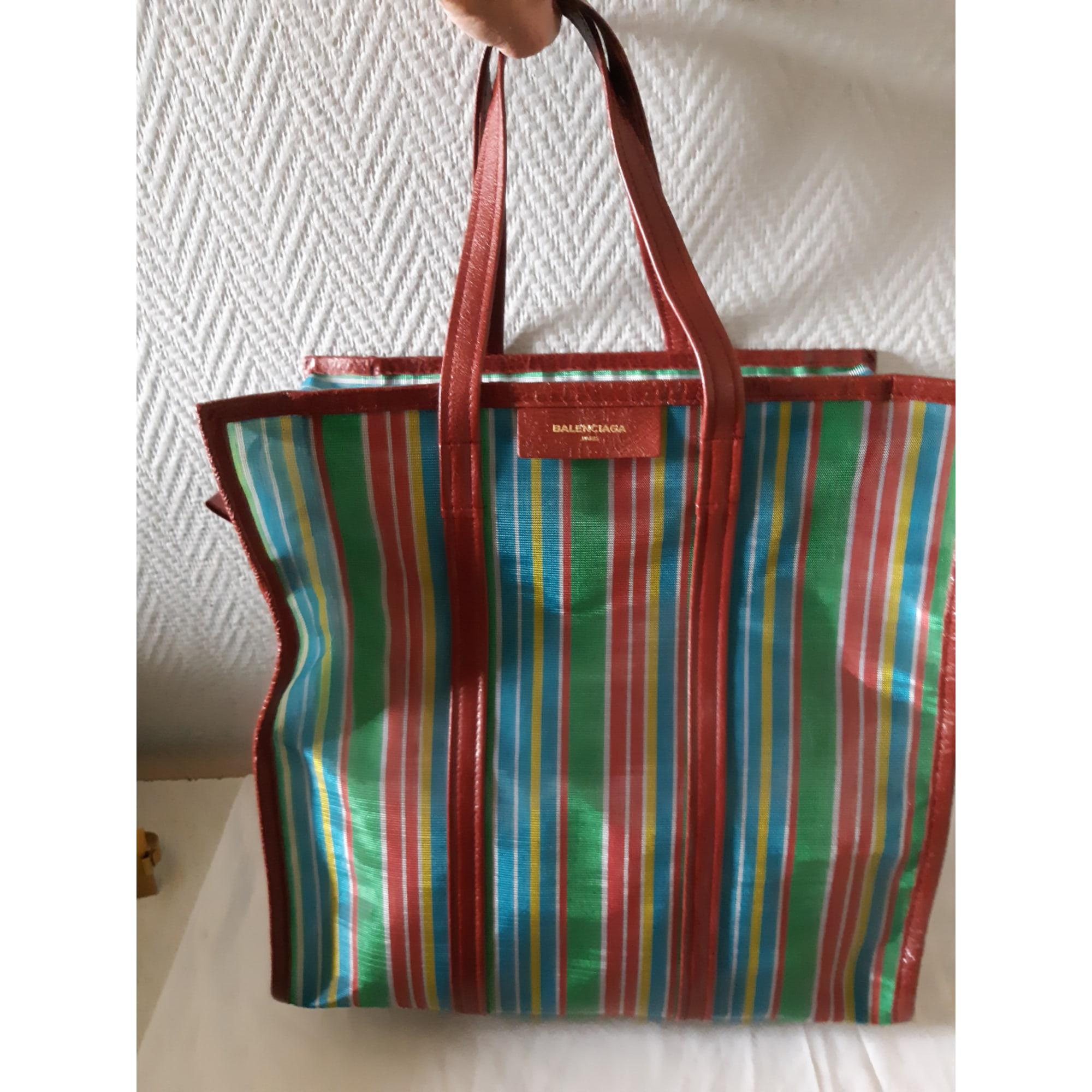 Sac XL en tissu BALENCIAGA Bazar Rouge, bordeaux